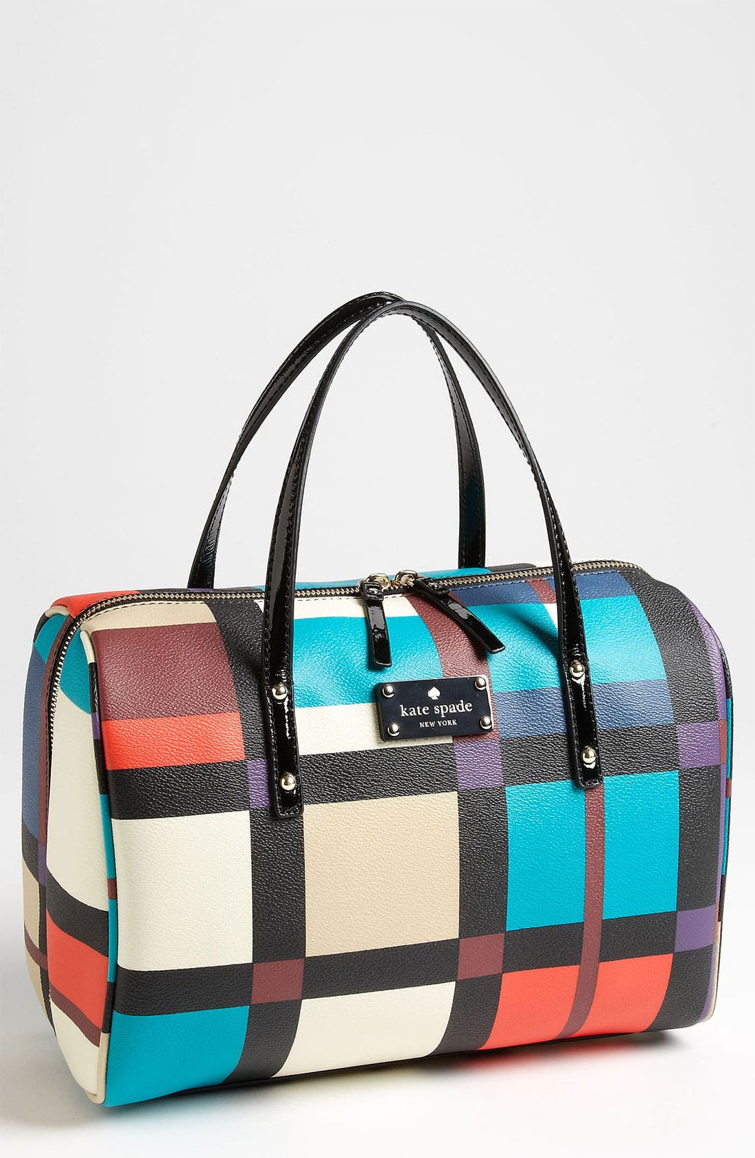 Main Image - kate spade new york 'perry street plaid - shawna' satchel