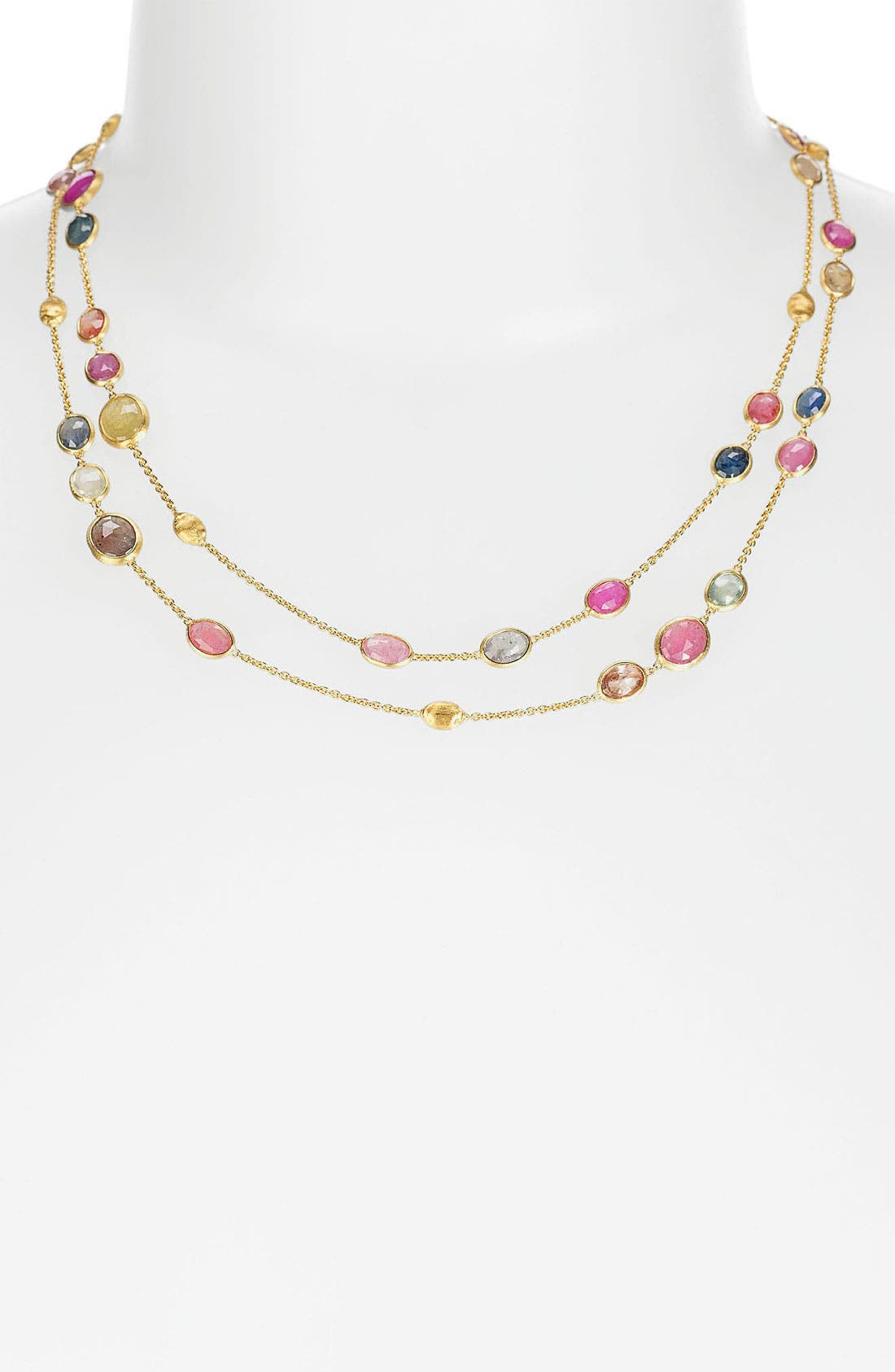 Alternate Image 1 Selected - Marco Bicego 'Sivilgia' Long Sapphire Station Necklace