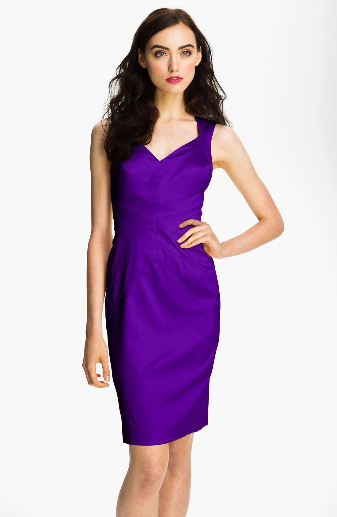 Alternate Image 1 Selected - Jessica Simpson Starburst Seam Sheath Dress