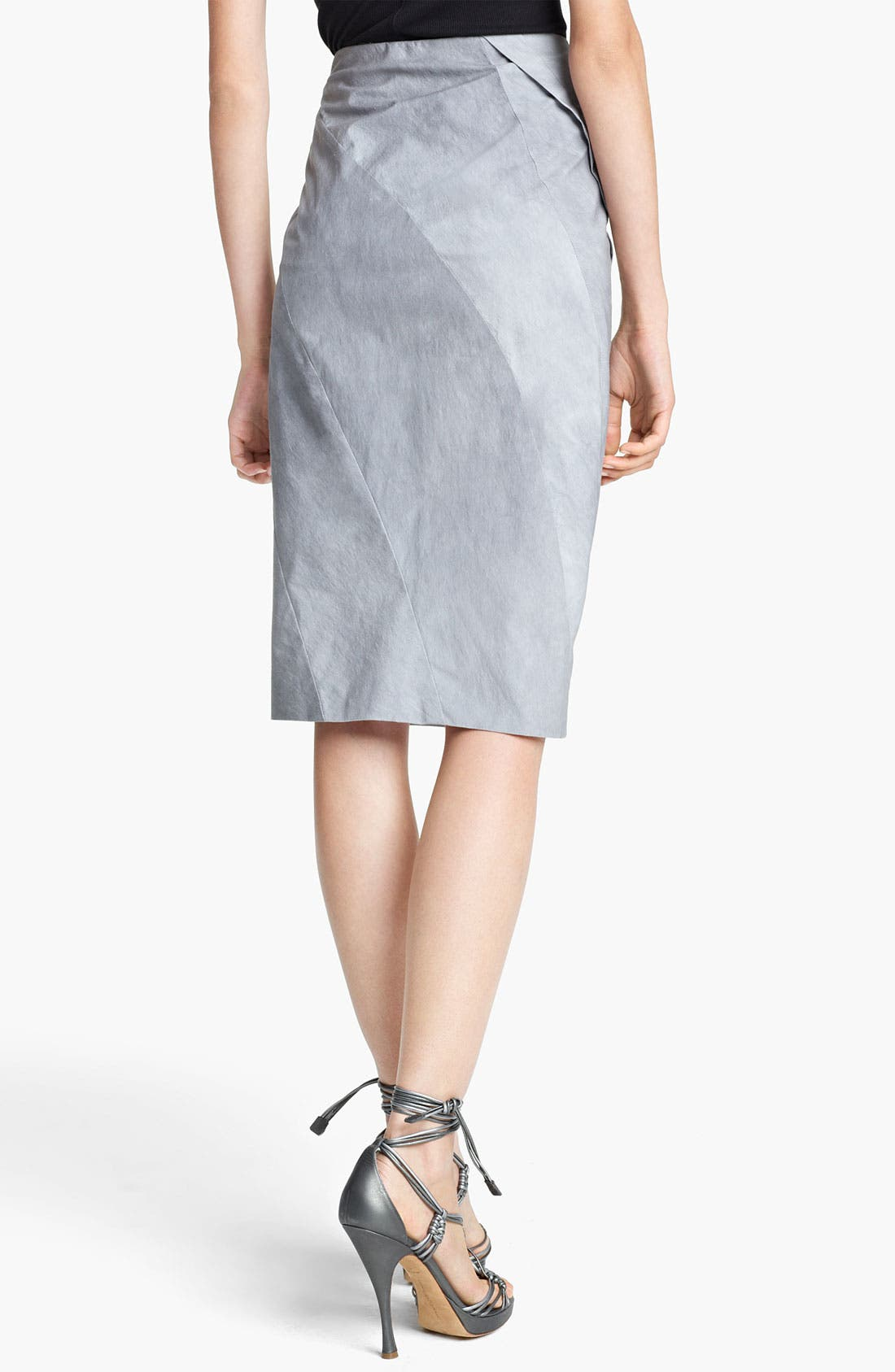 Alternate Image 2  - Donna Karan Collection 'Mineral Paper' Crushed Skirt