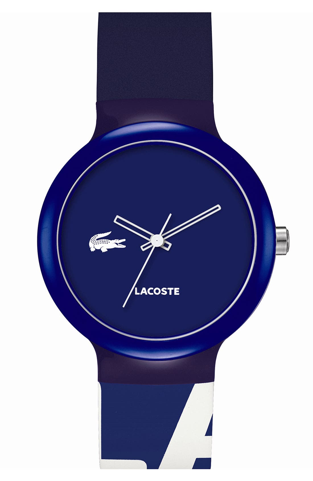 Alternate Image 1 Selected - Lacoste 'Goa' Colorblock Silicone Strap Watch, 40mm