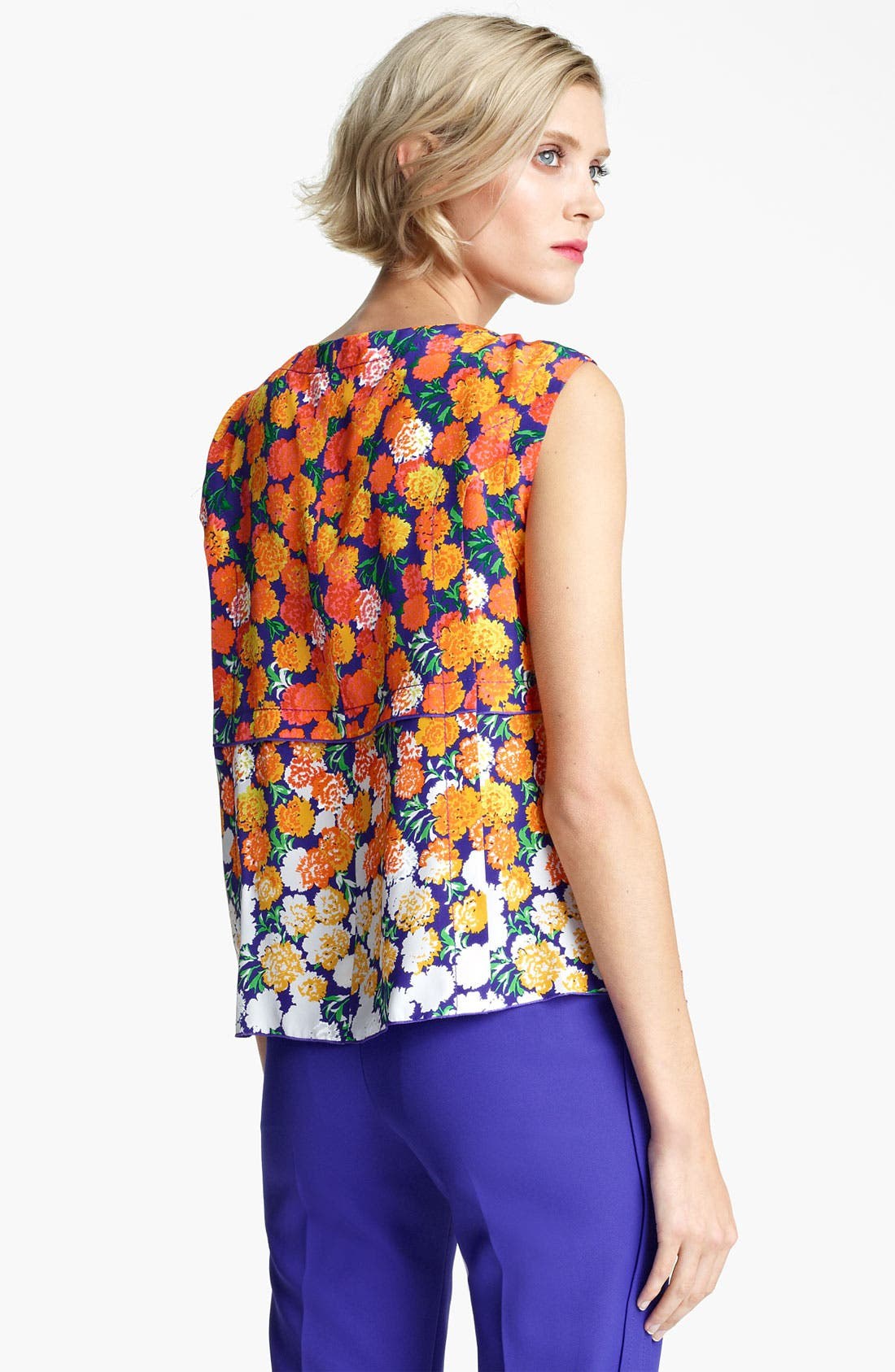 Alternate Image 2  - MARC JACOBS Dégradé Floral Silk Crepe Top