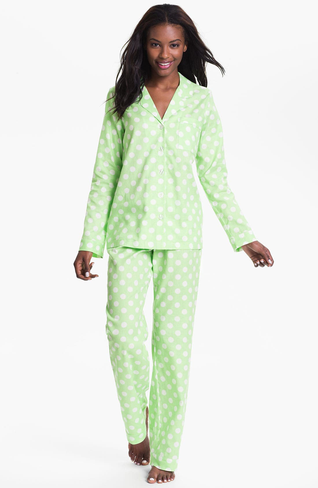 Alternate Image 1 Selected - Nordstrom 'Pretty' Flannel Pajamas