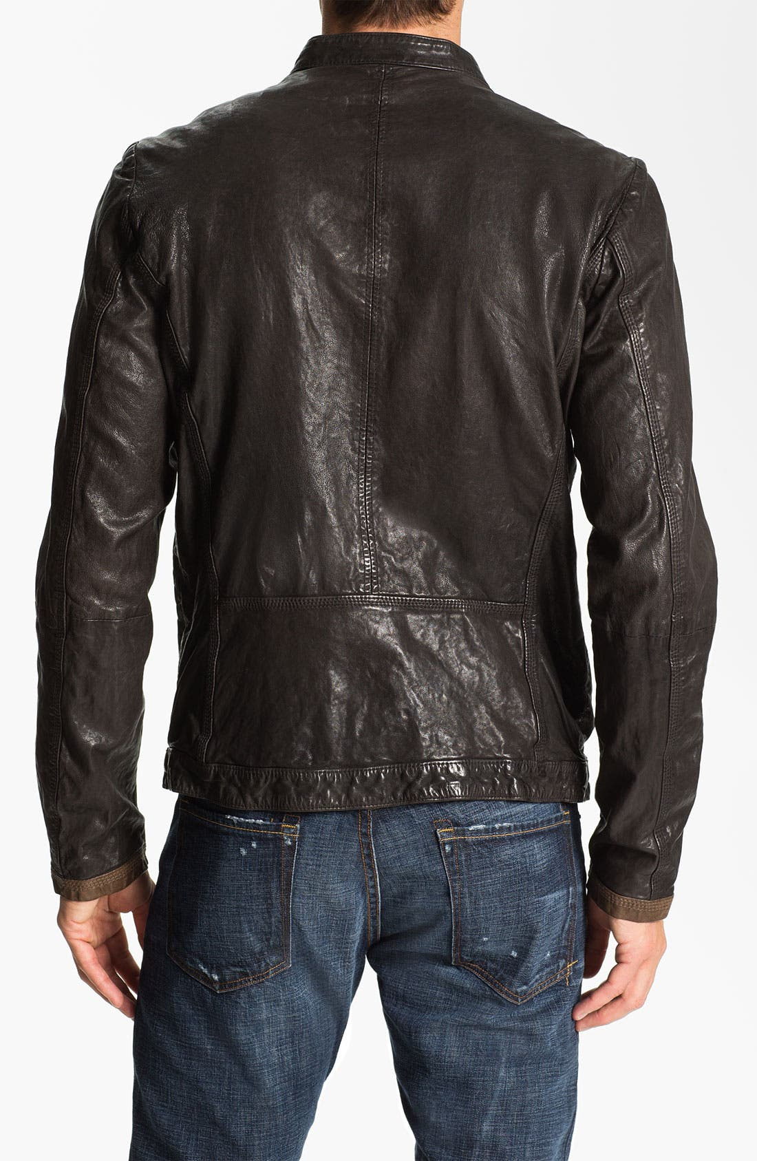 Alternate Image 2  - DIESEL® 'Lomami' Leather Moto Jacket
