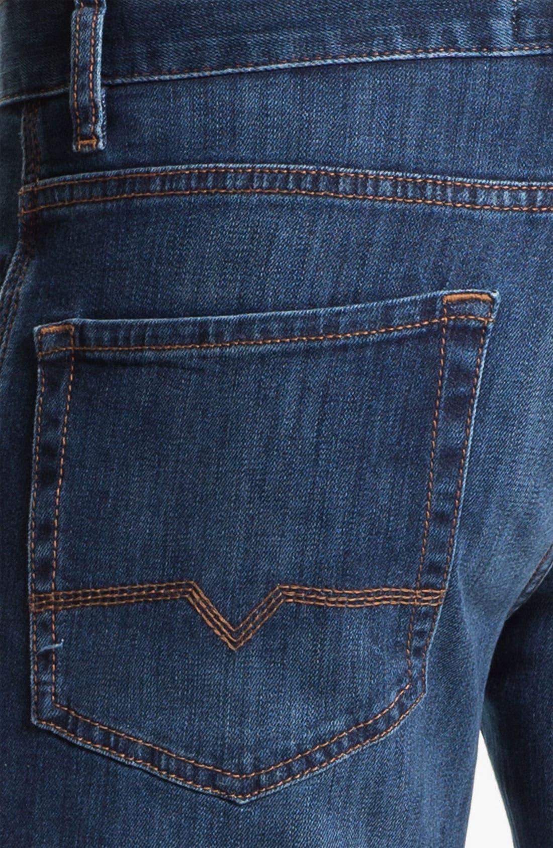 Alternate Image 4  - BOSS Orange Regular Straight Leg Jeans (Bright Blue)