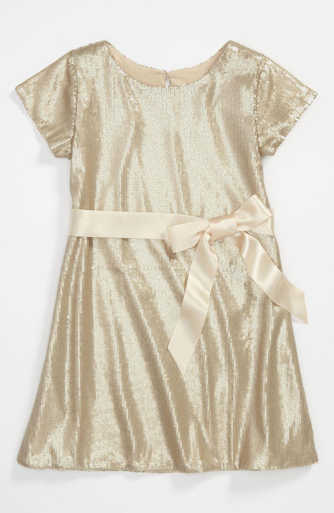 Main Image - Halabaloo 'Gorgeous' Sequin Dress (Little Girls & Big Girls)