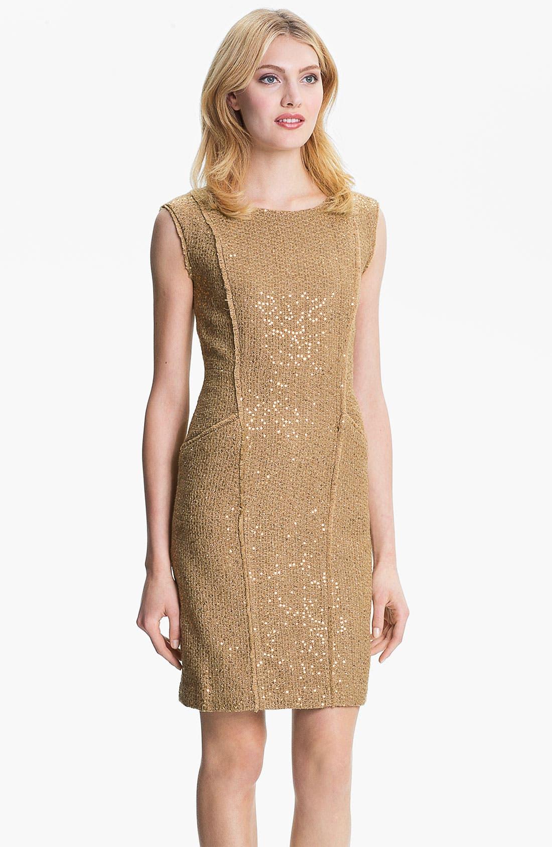 Main Image - MICHAEL Michael Kors Fray Edge Sheath Dress (Petite)