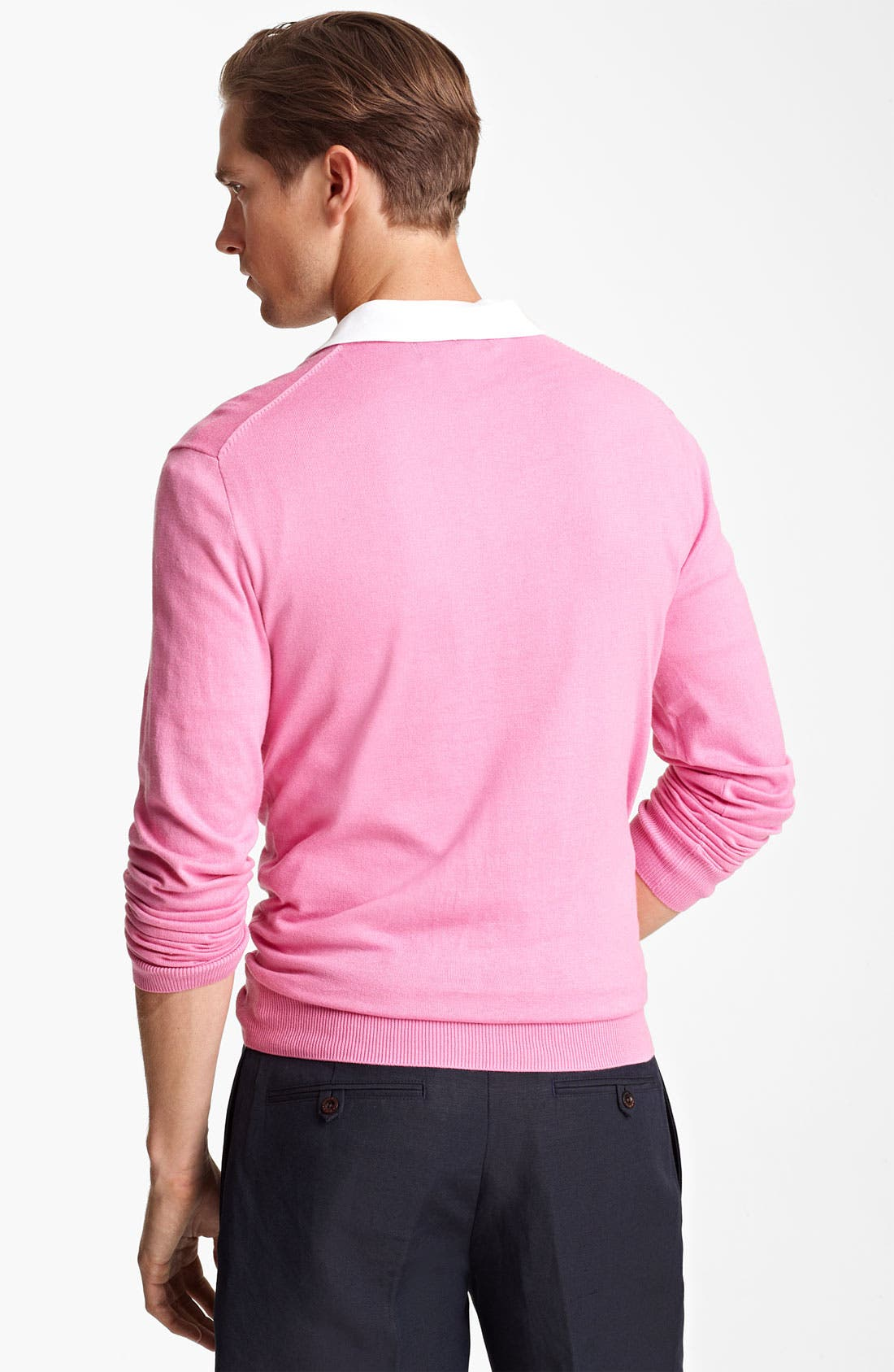 Alternate Image 2  - Polo Ralph Lauren Cotton & Cashmere V-Neck Sweater