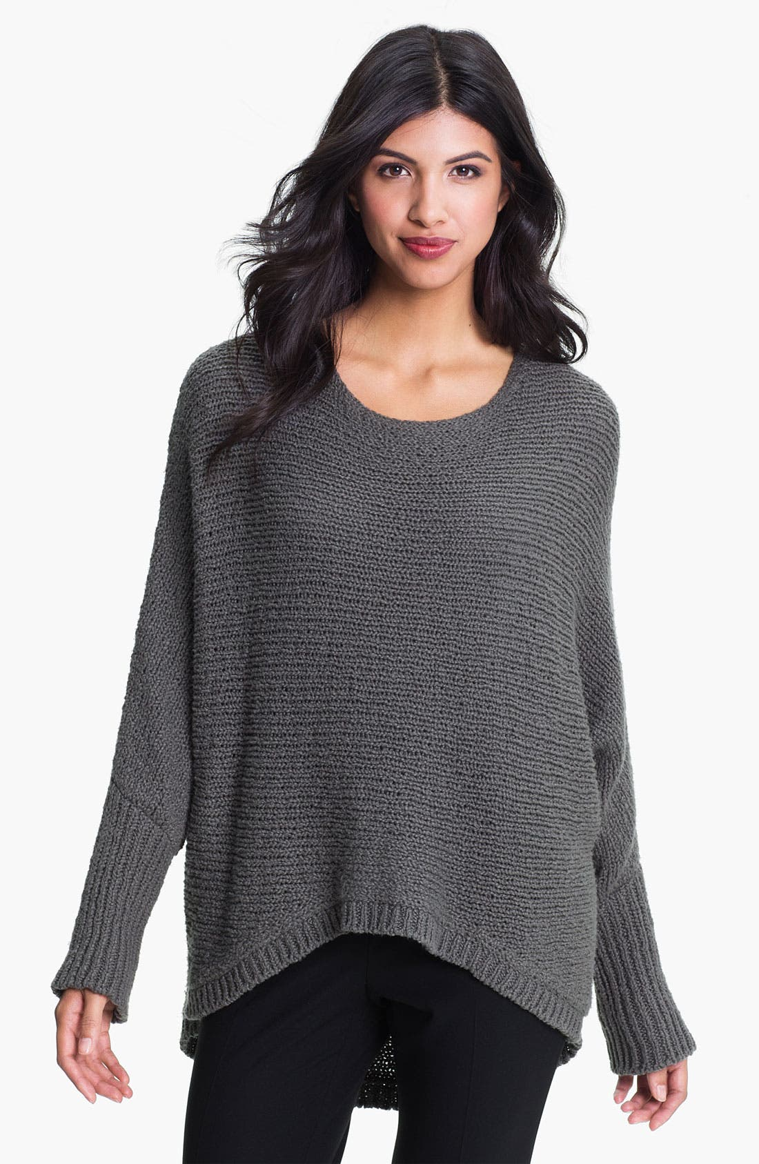 Alternate Image 1 Selected - Eileen Fisher Bateau Neck Boxy Sweater (Online Exclusive)