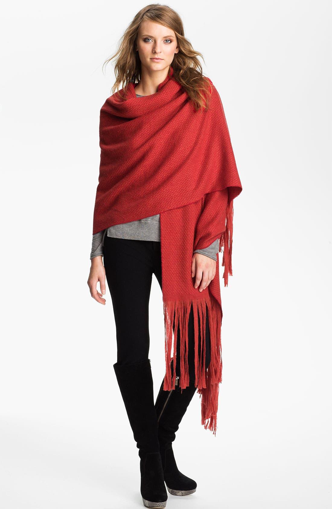 Main Image - Nordstrom Long Fringe Wool Wrap
