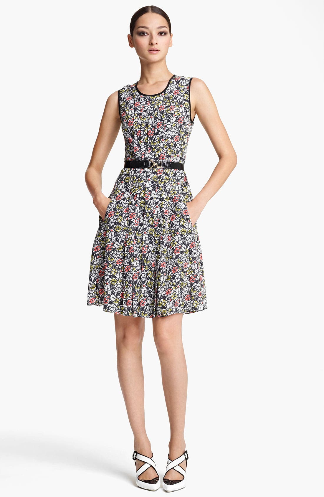 Alternate Image 1 Selected - Jason Wu Belted Print Silk Dress