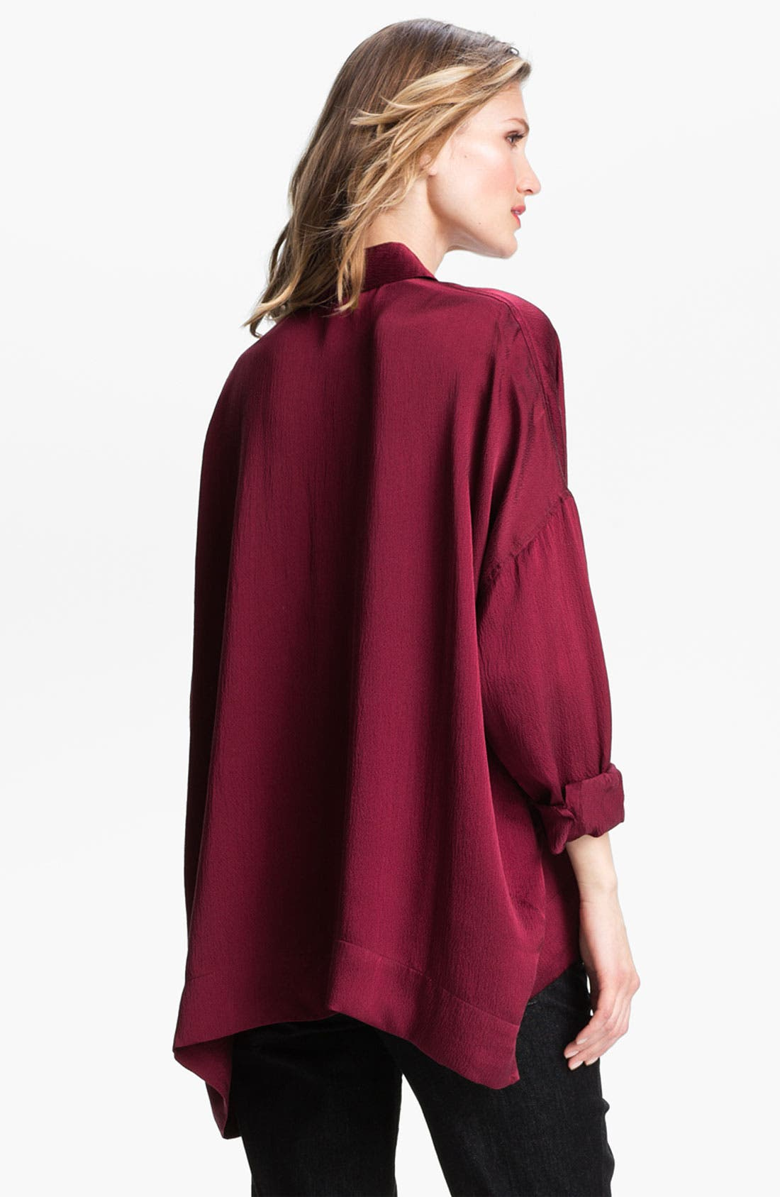 Alternate Image 2  - Eileen Fisher Hammered Silk Shirt
