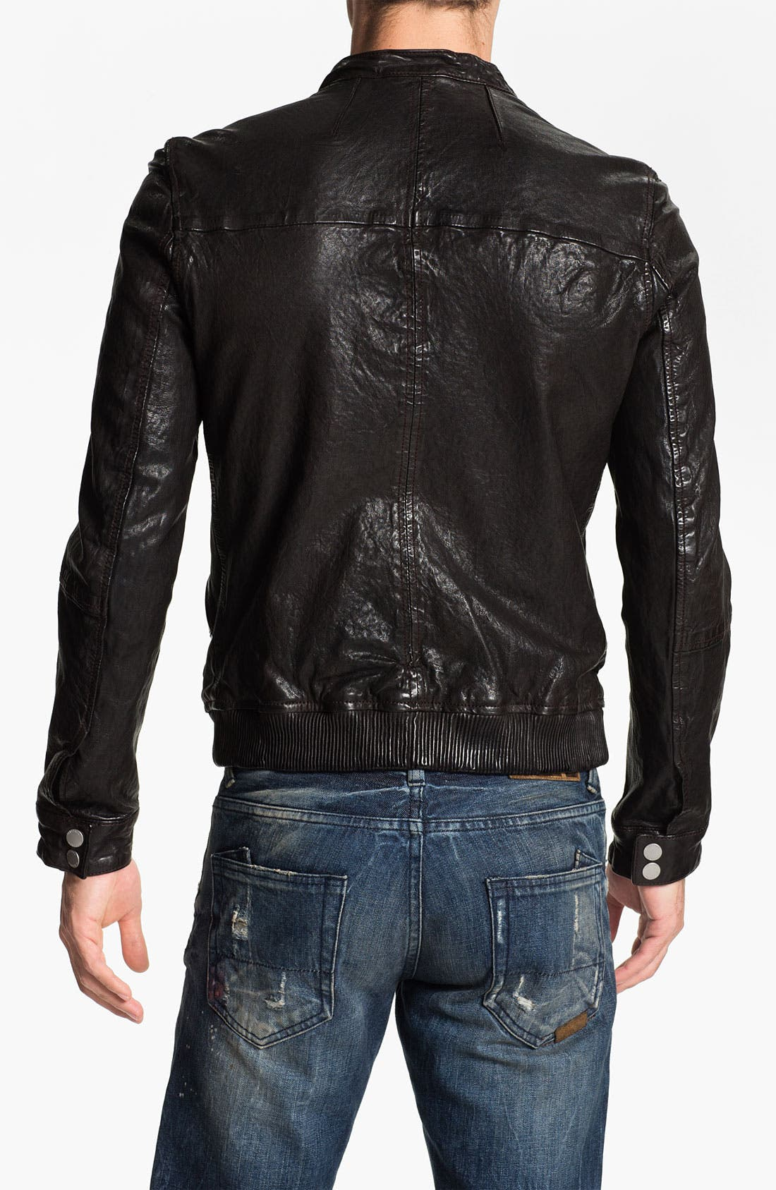 Alternate Image 2  - PLECTRUM by Ben Sherman Leather Moto Jacket