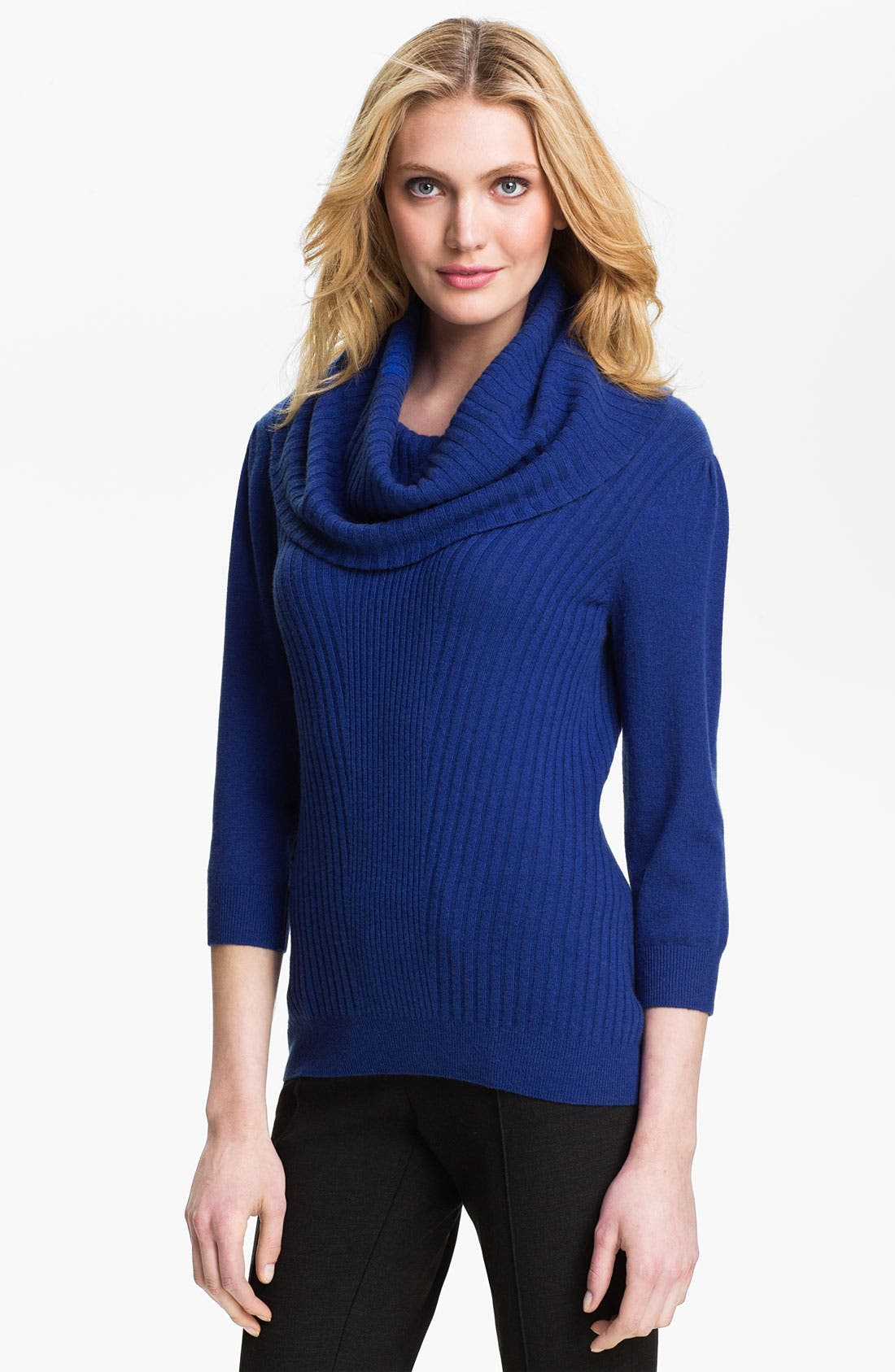 Alternate Image 1 Selected - Classiques Entier® Cowl Neck Cashmere Sweater