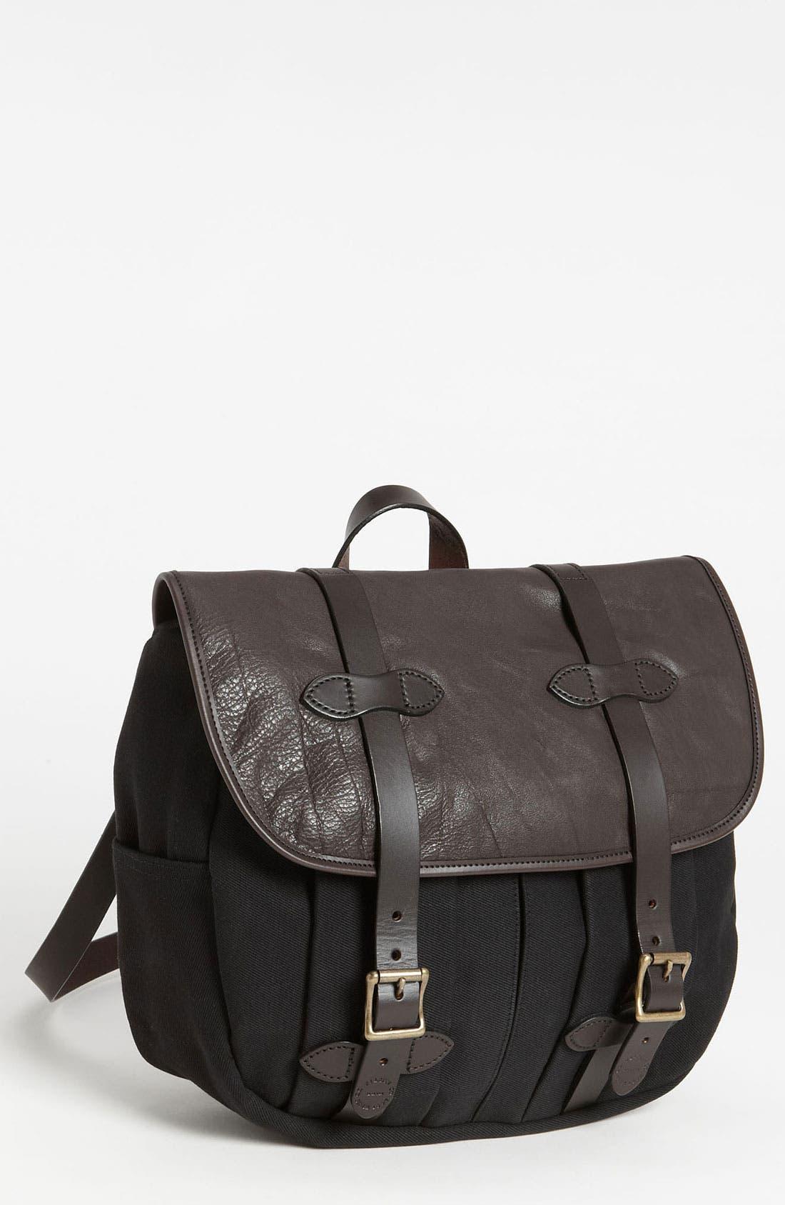 Alternate Image 1 Selected - Filson Medium Twill & Leather Field Bag