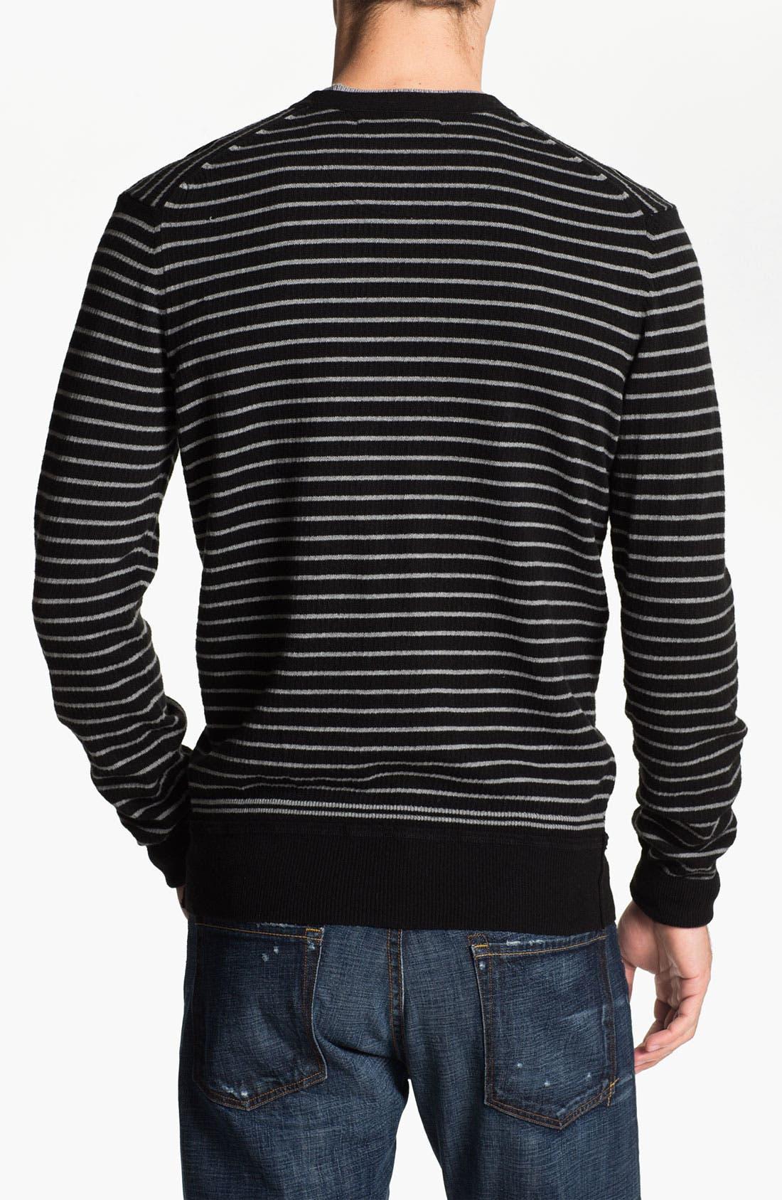 Alternate Image 2  - Ben Sherman Stripe Crewneck Sweater