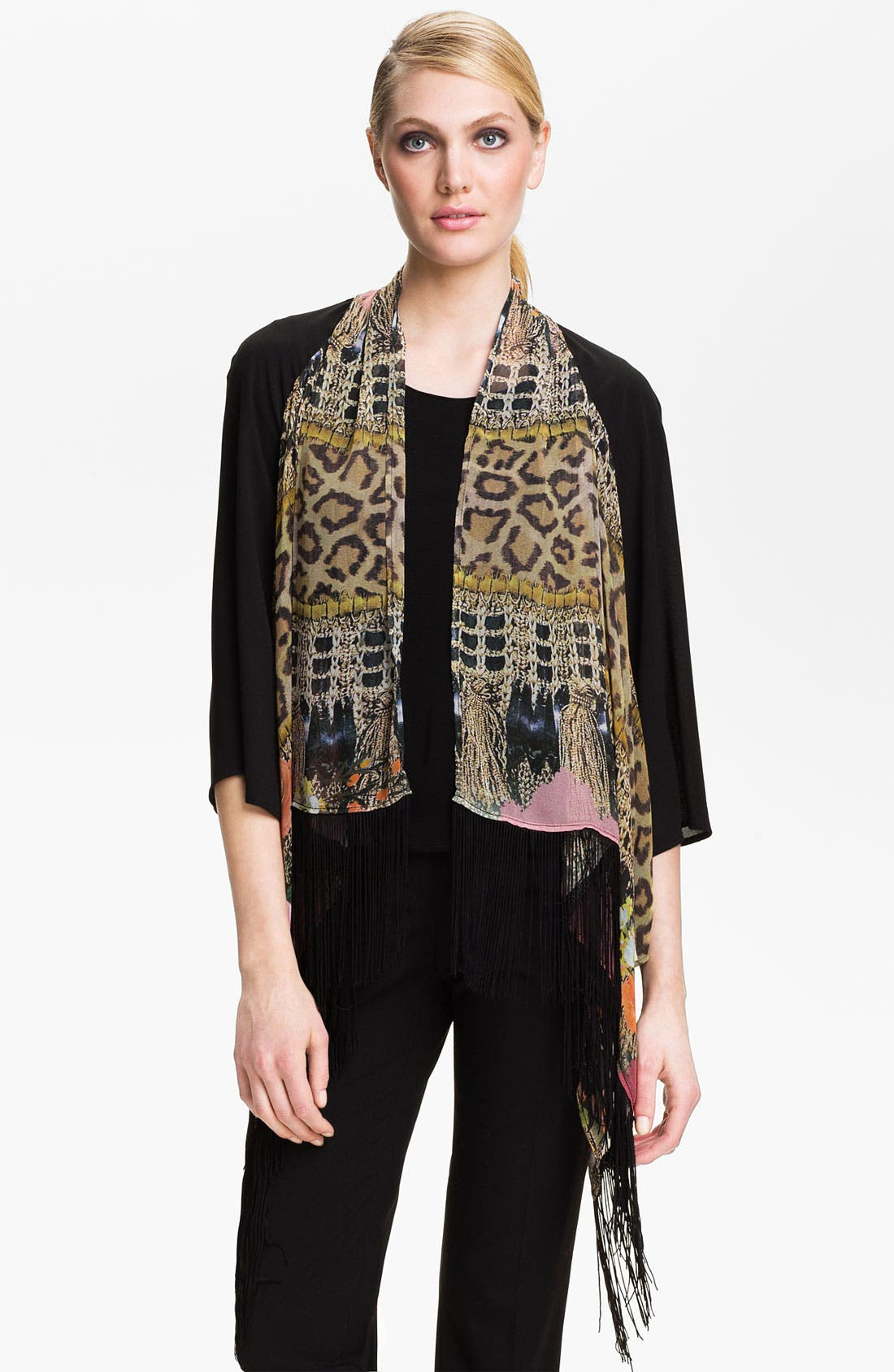 Alternate Image 1 Selected - Alberto Makali Tassel Print Fringed Jacket