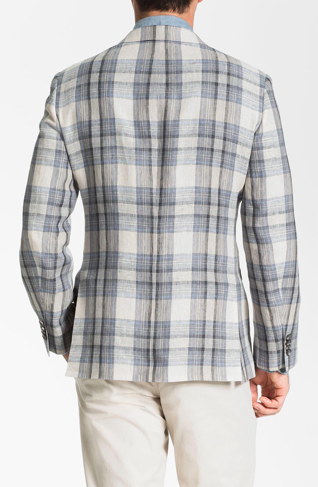 Alternate Image 2  - John W. Nordstrom® Linen Plaid Sportcoat