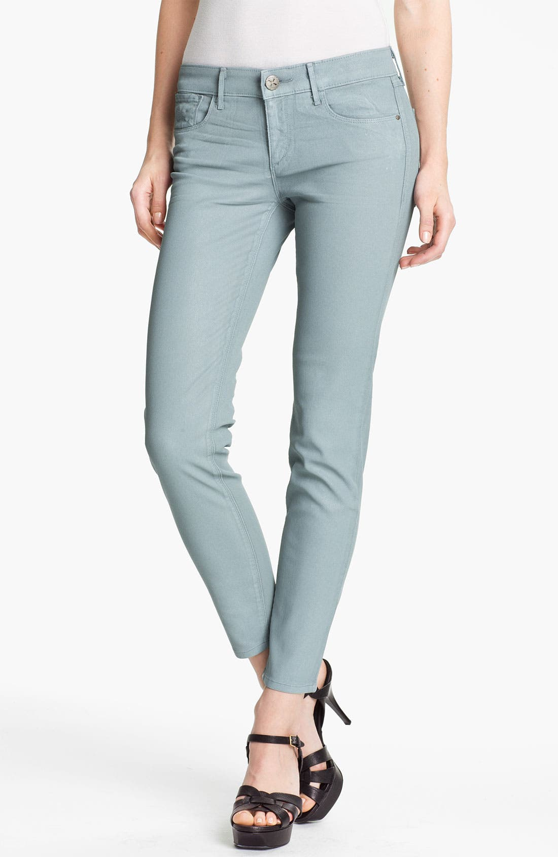Alternate Image 1 Selected - Habitual 'Angelina' Coated Cigarette Leg Stretch Jeans