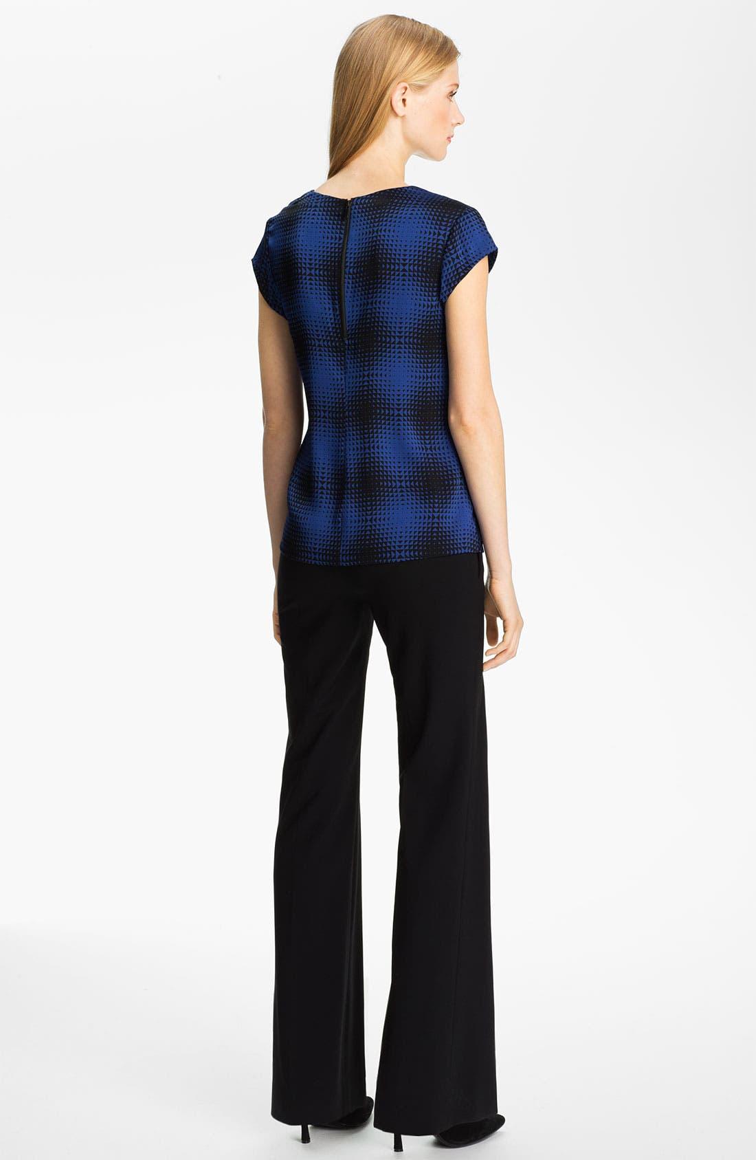 Alternate Image 5  - Classiques Entier® Drape Neck Stretch Silk Top