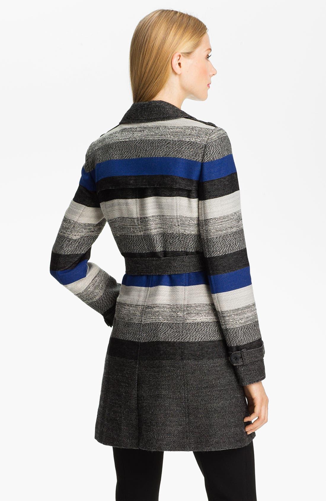 Alternate Image 2  - Classiques Entier® 'Art Stripe' Trench Coat