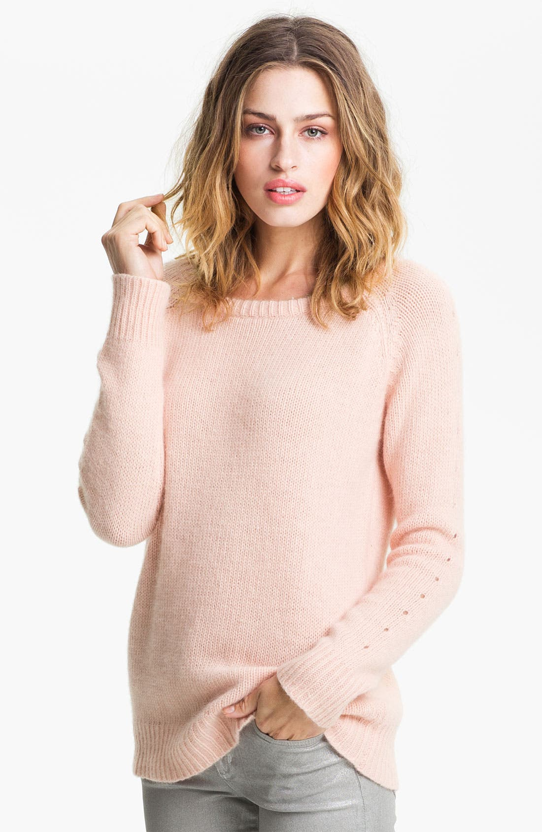 Main Image - Bellatrix Fuzzy Eyelet Sweater