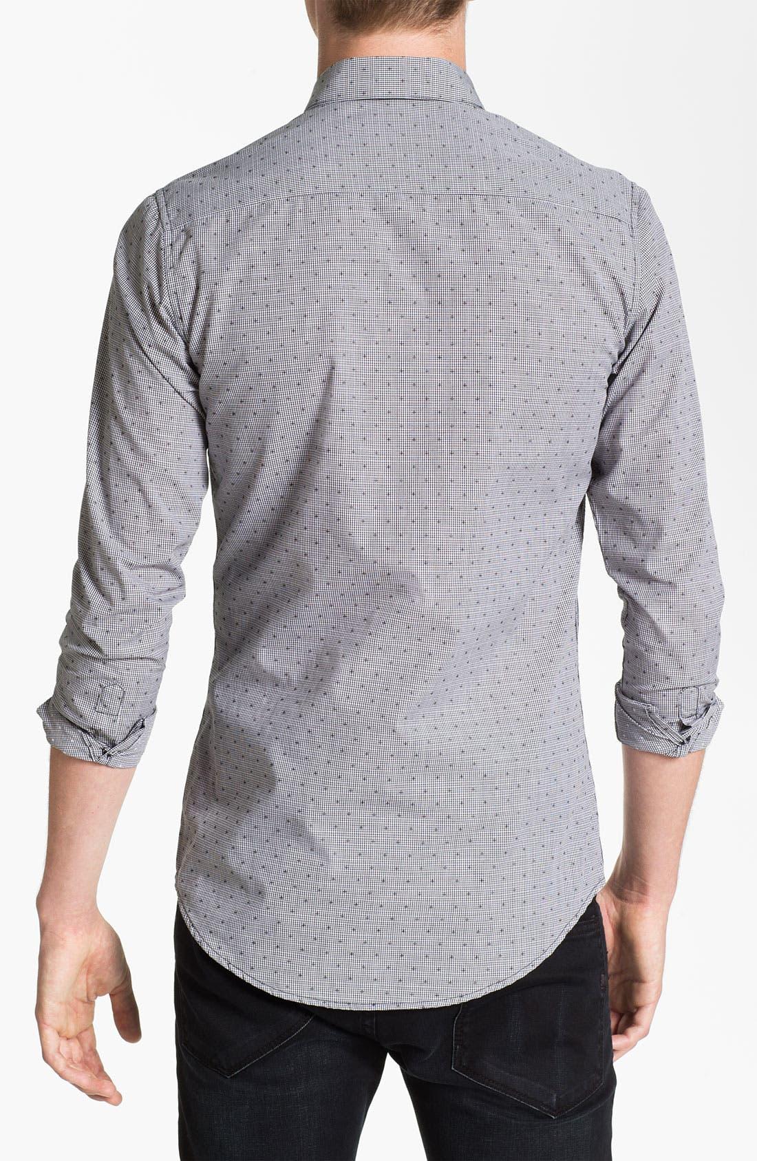 Alternate Image 2  - Topman Extra Trim Grid Check Shirt