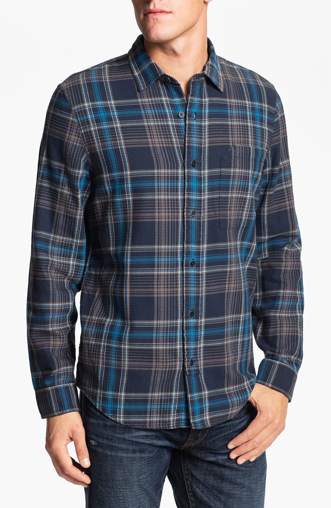 Alternate Image 1 Selected - R44 Rogan Standard Issue Flannel Work Shirt
