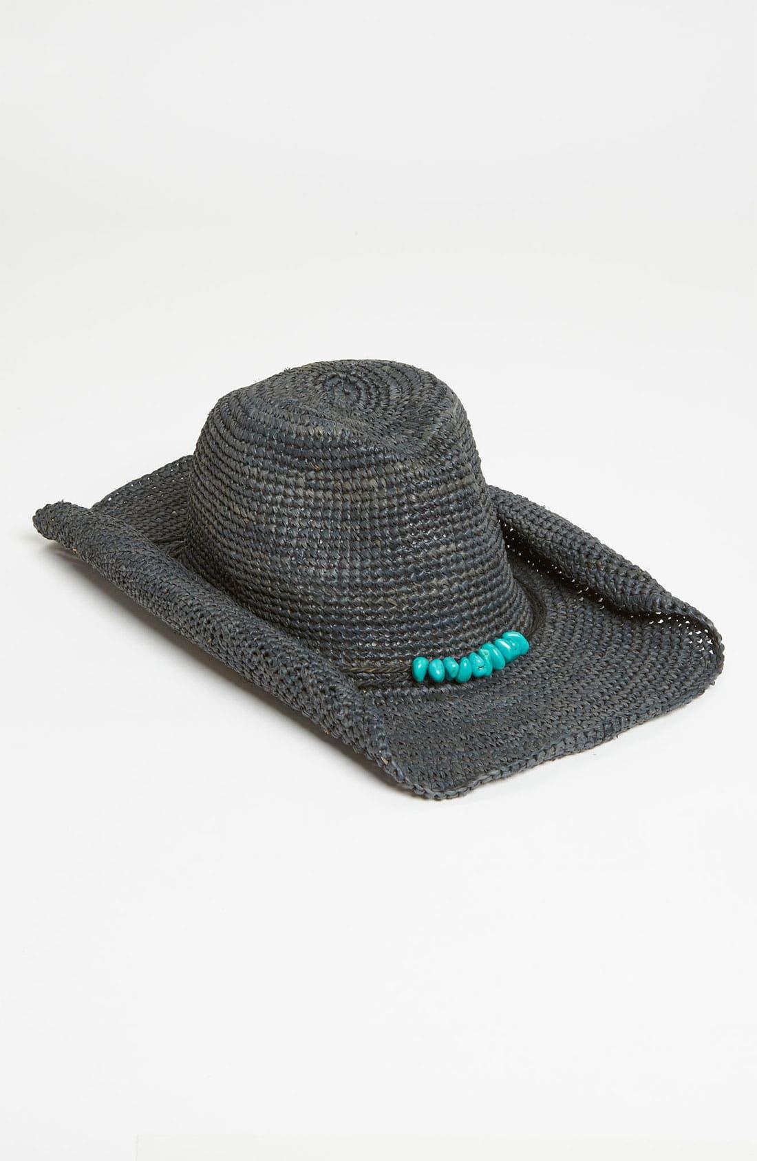 Main Image - Flora Bella Raffia Cowboy Hat
