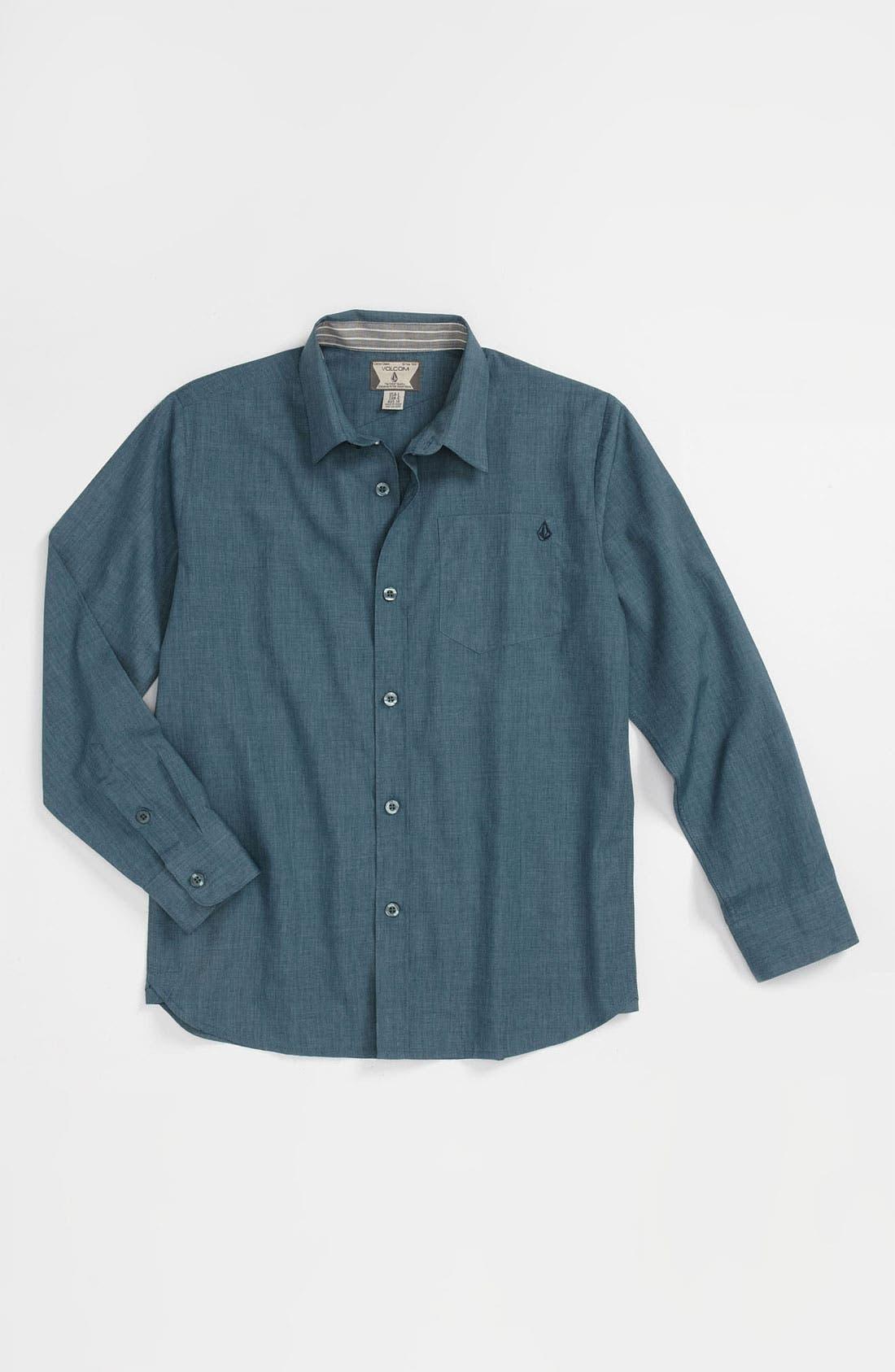 Alternate Image 1 Selected - Volcom 'Ex Factor' Woven Shirt (Big Boys)