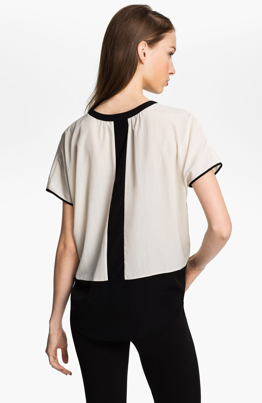 Alternate Image 2  - Vince Camuto Split Neck Colorblock Blouse