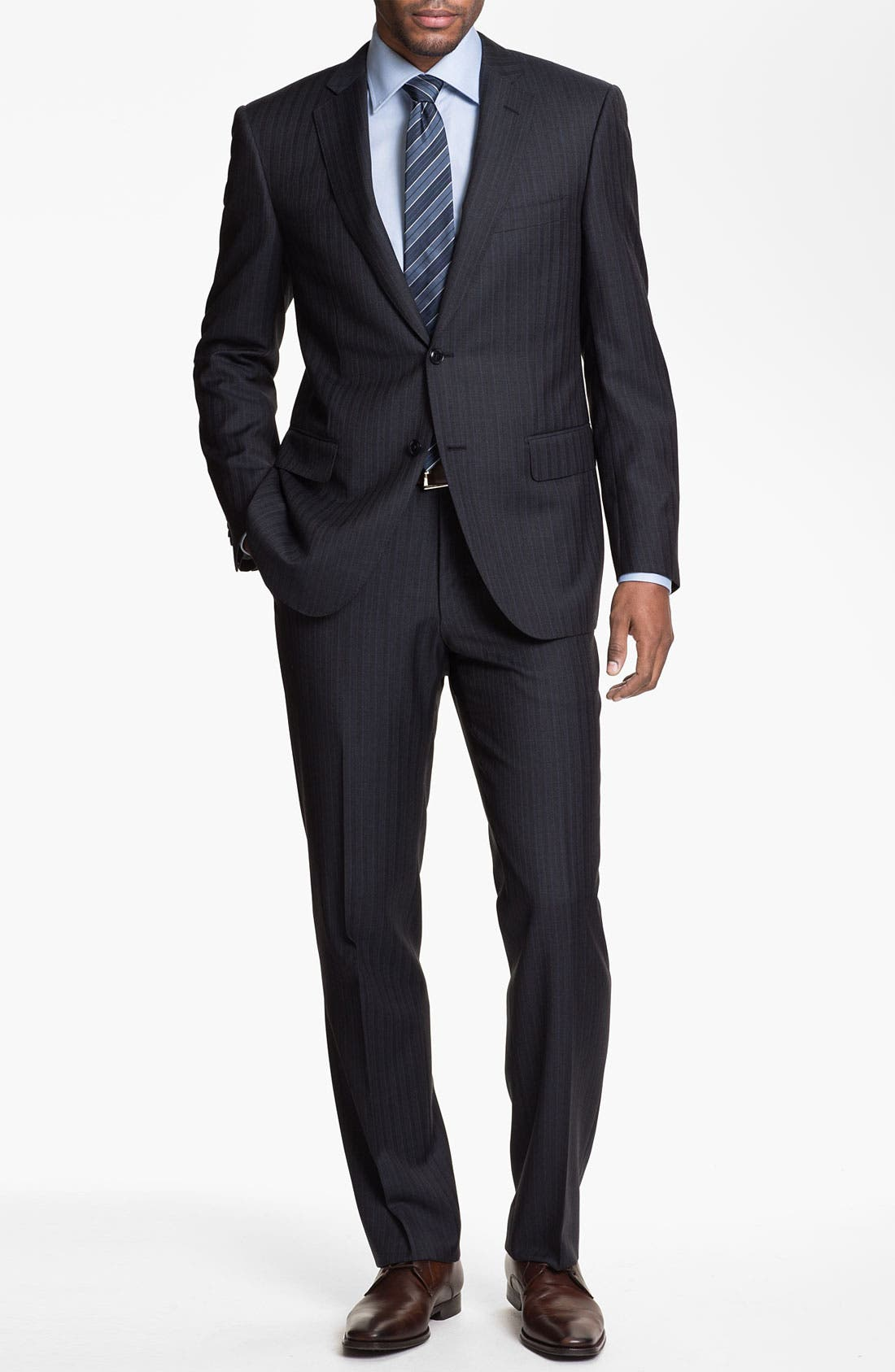 Alternate Image 2  - Pal Zileri Trim Fit Stripe Suit