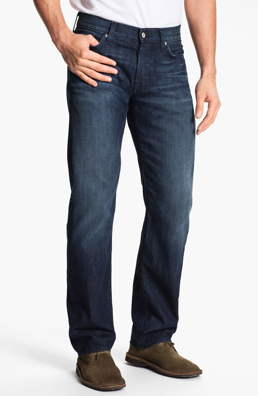 Alternate Image 2  - 7 For All Mankind® 'Standard' Straight Leg Jeans (Contra Costa)