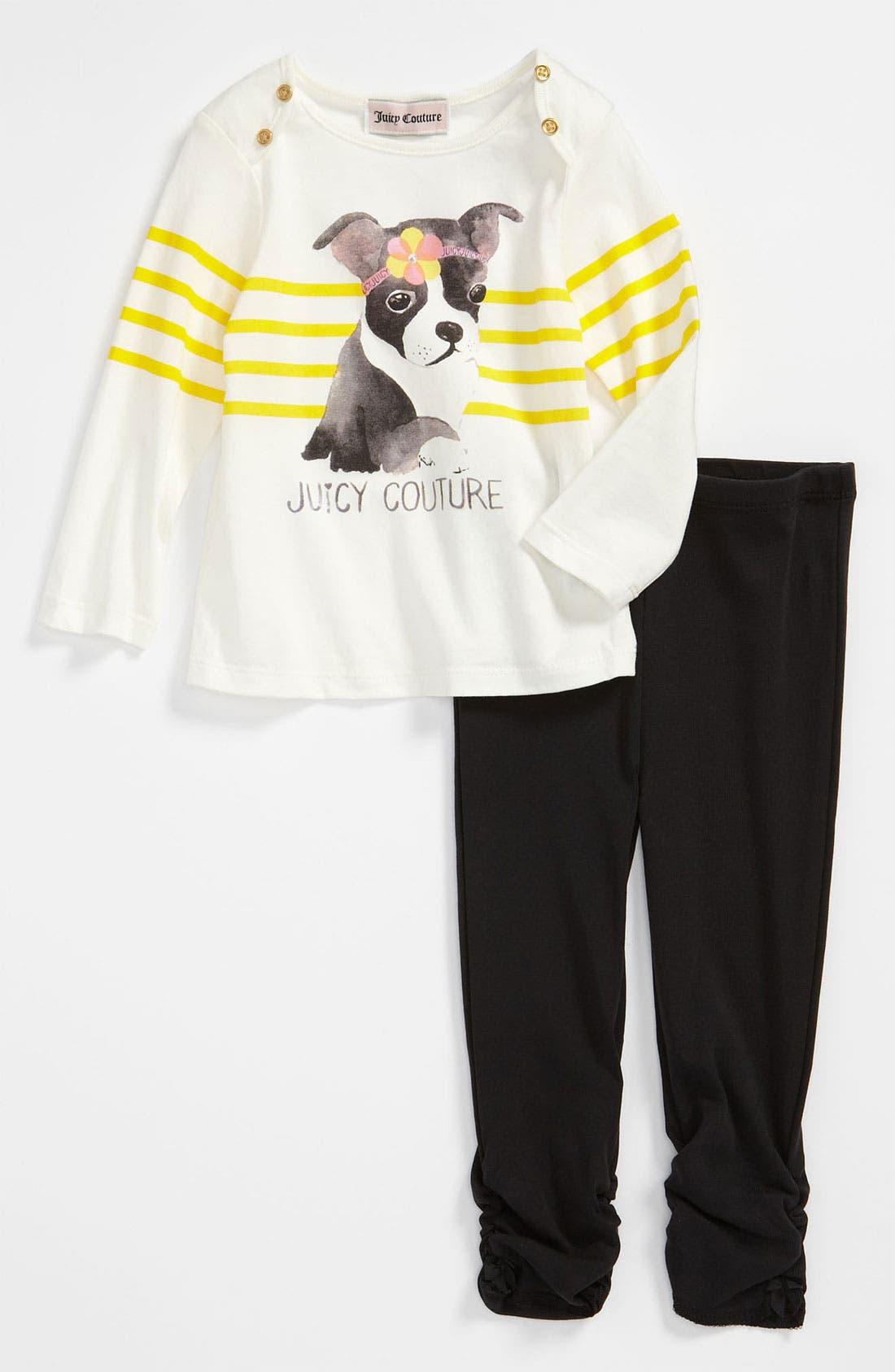 Main Image - Juicy Couture Top & Leggings (Infant)