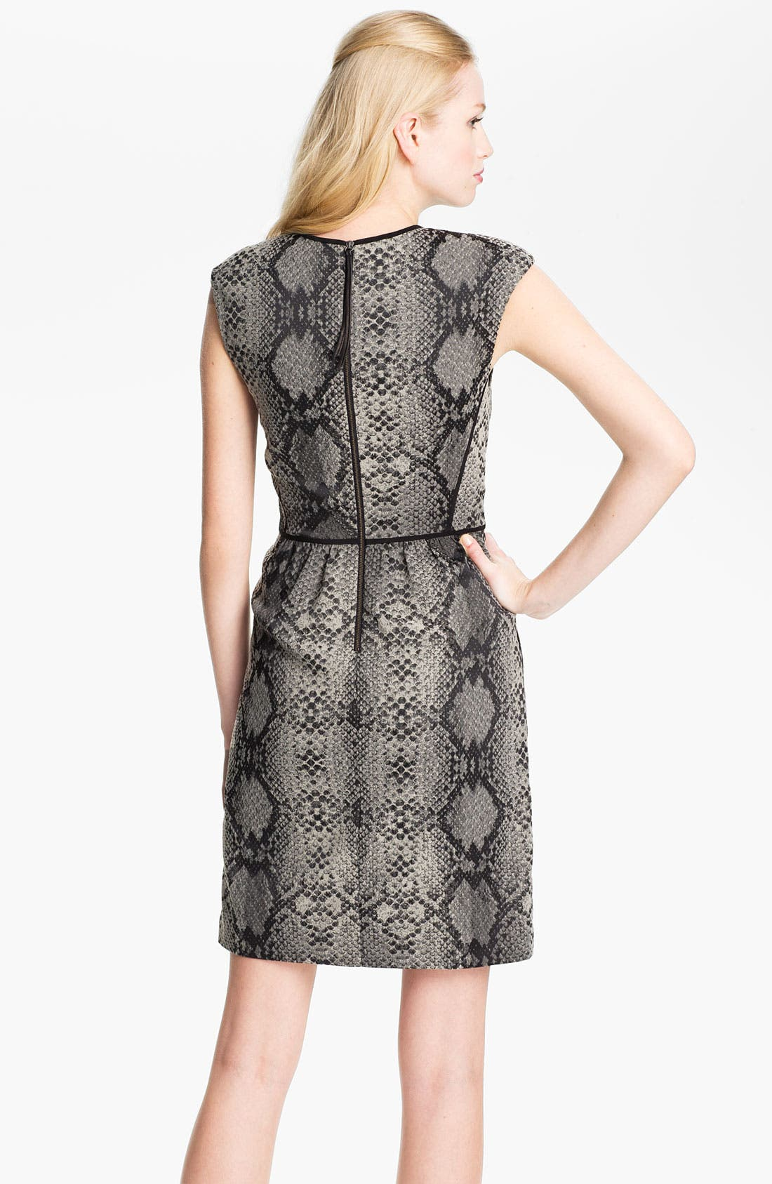 Alternate Image 2  - Rebecca Taylor Print Sheath Dress