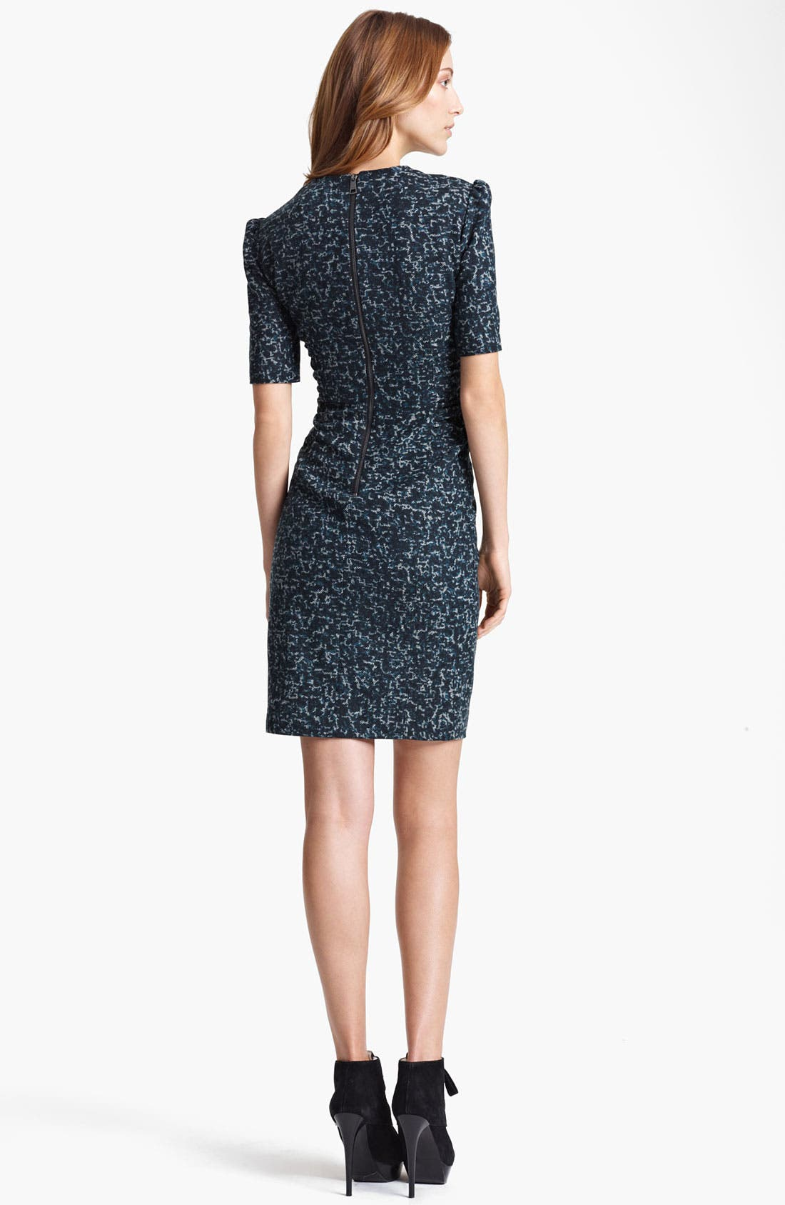 Alternate Image 2  - Burberry London Ruched Tweed Print Dress