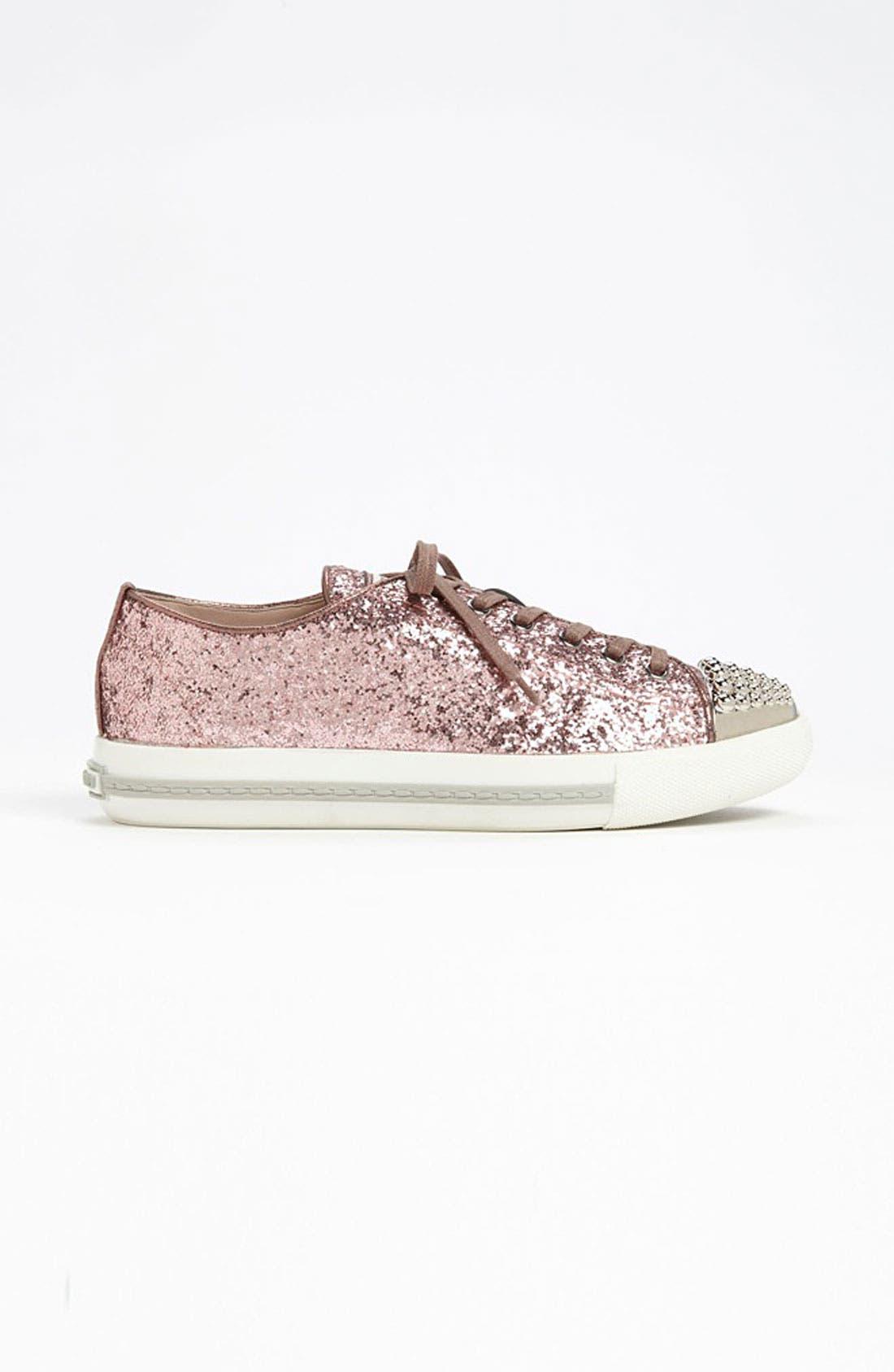 Alternate Image 4  - Miu Miu Glitter Cap Toe Sneaker