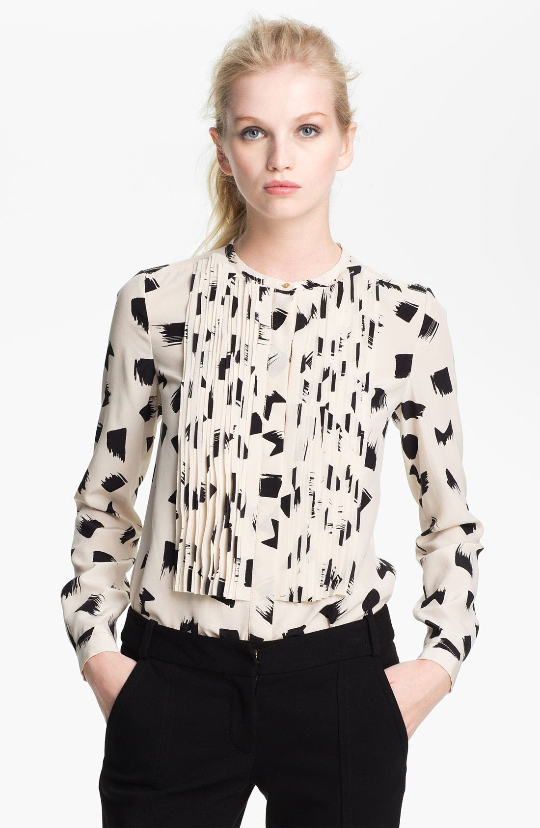 Alternate Image 1 Selected - Diane von Furstenberg 'Hayden' Print Silk Blouse