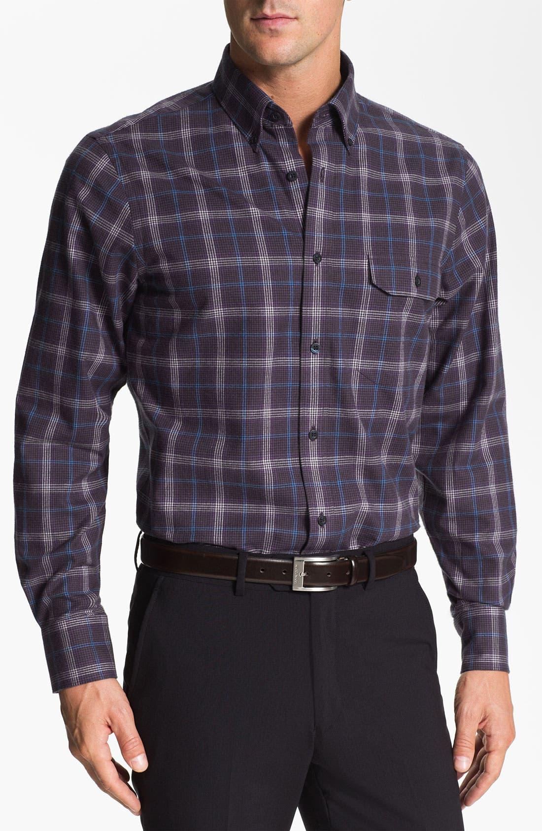 Main Image - Nordstrom Regular Fit Cotton Flannel Shirt