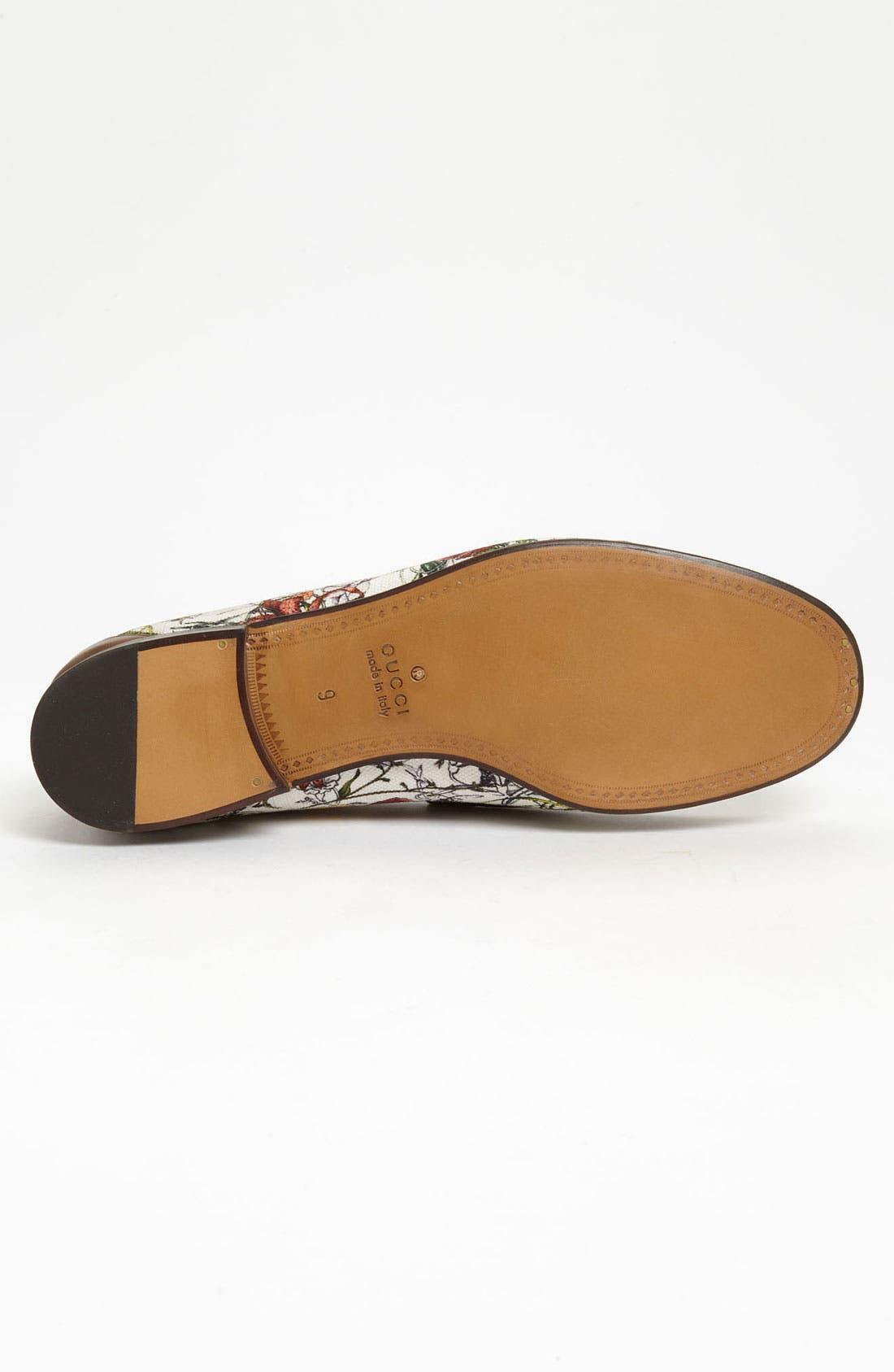 Alternate Image 4  - Gucci 'Roos' Floral Bit Loafer
