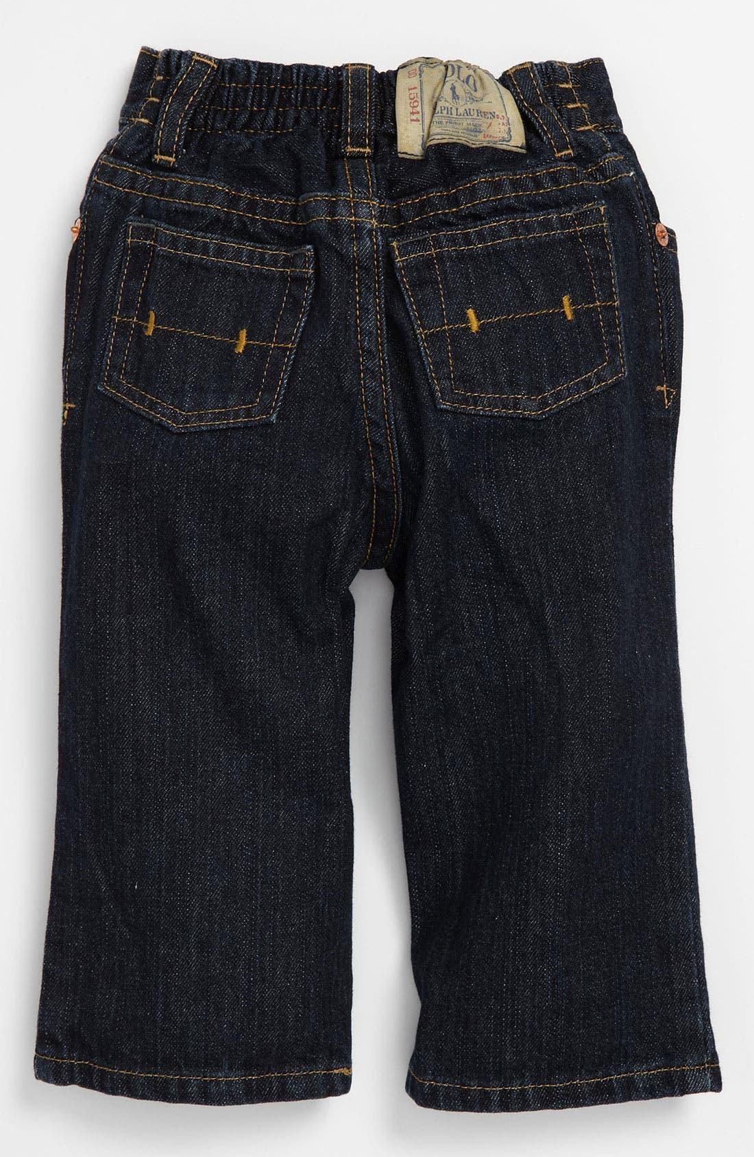 Alternate Image 1 Selected - Ralph Lauren Skinny Leg Jeans (Infant)