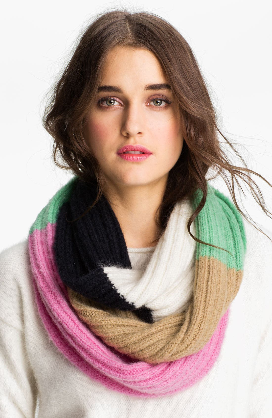 Alternate Image 1 Selected - Juicy Couture Colorblock Infinity Scarf