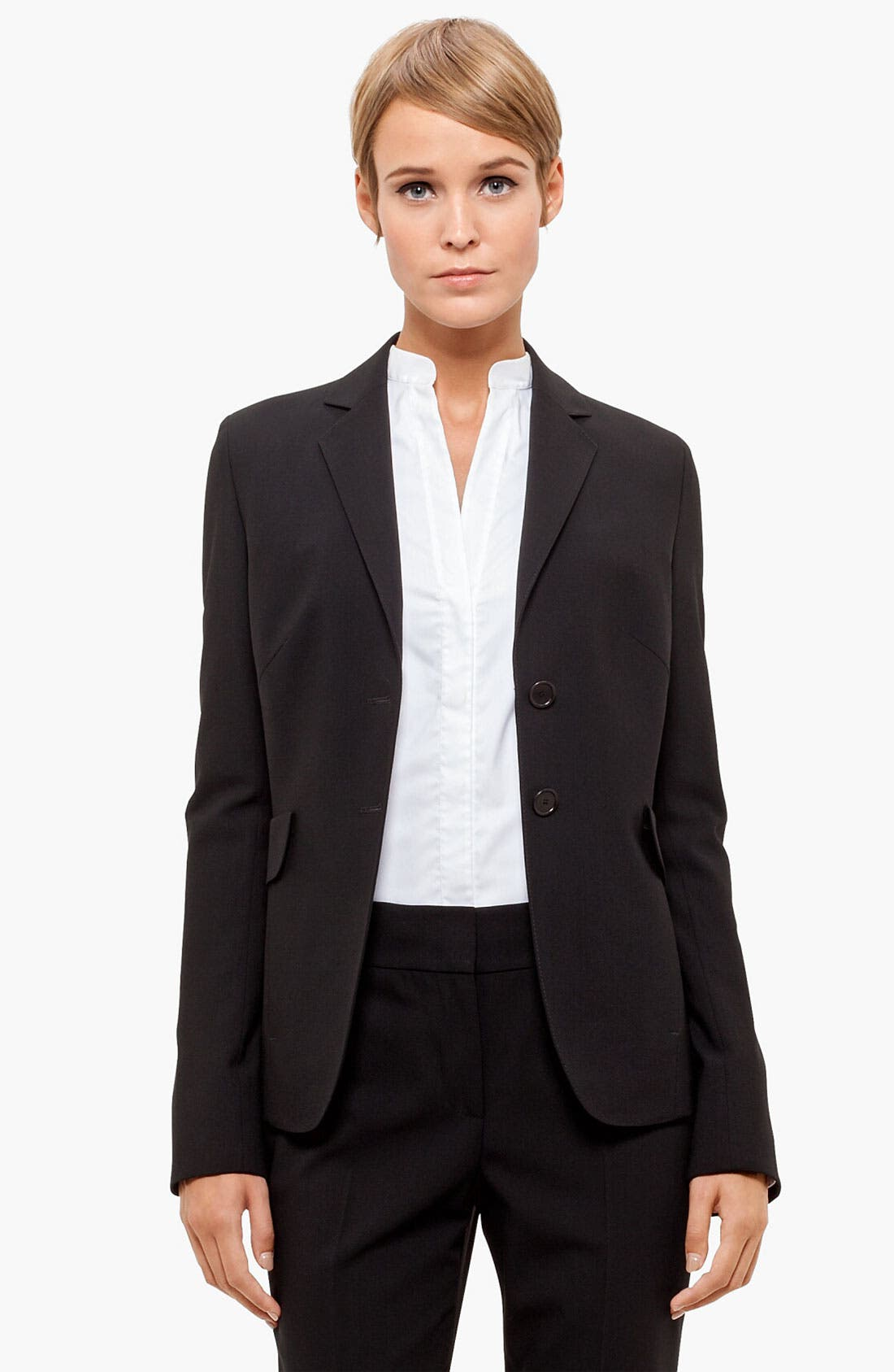 Main Image - Akris punto Two Button Long Wool Jacket