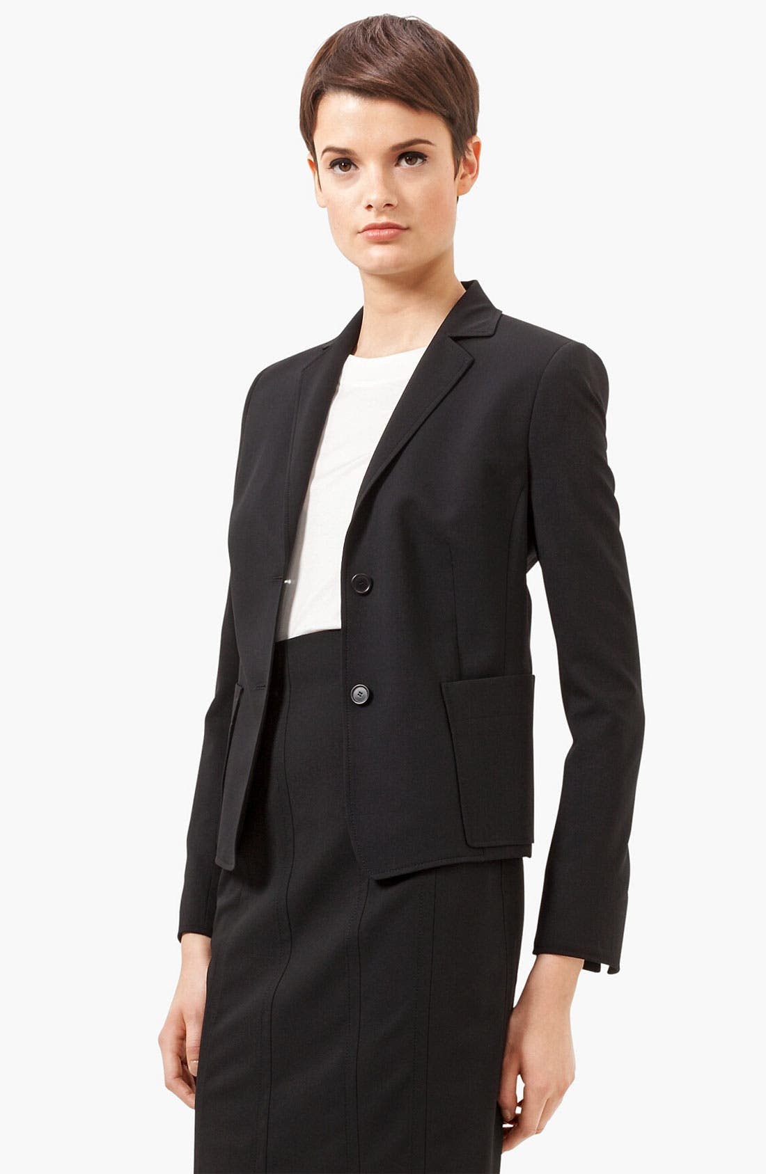 Alternate Image 2  - Akris punto Two Button Wool Jacket