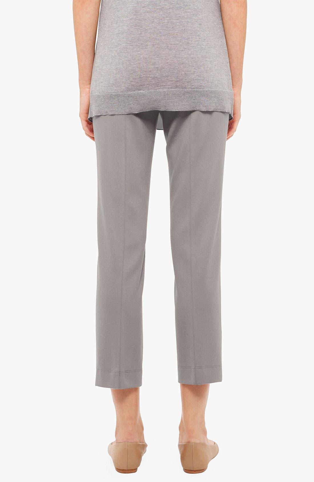 Alternate Image 2  - Akris punto 'Marina' Side Zip Crop Jersey Pants
