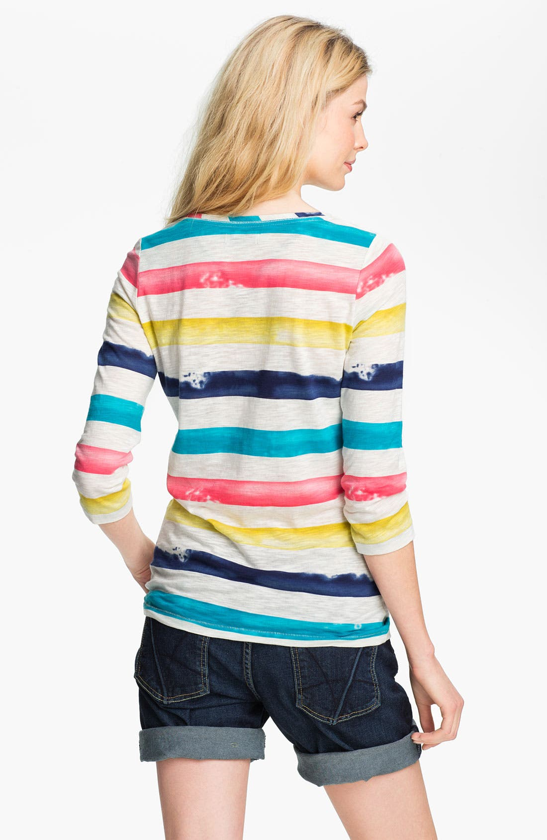 Alternate Image 2  - Lucky Brand 'Spring' Painted Stripe Tee