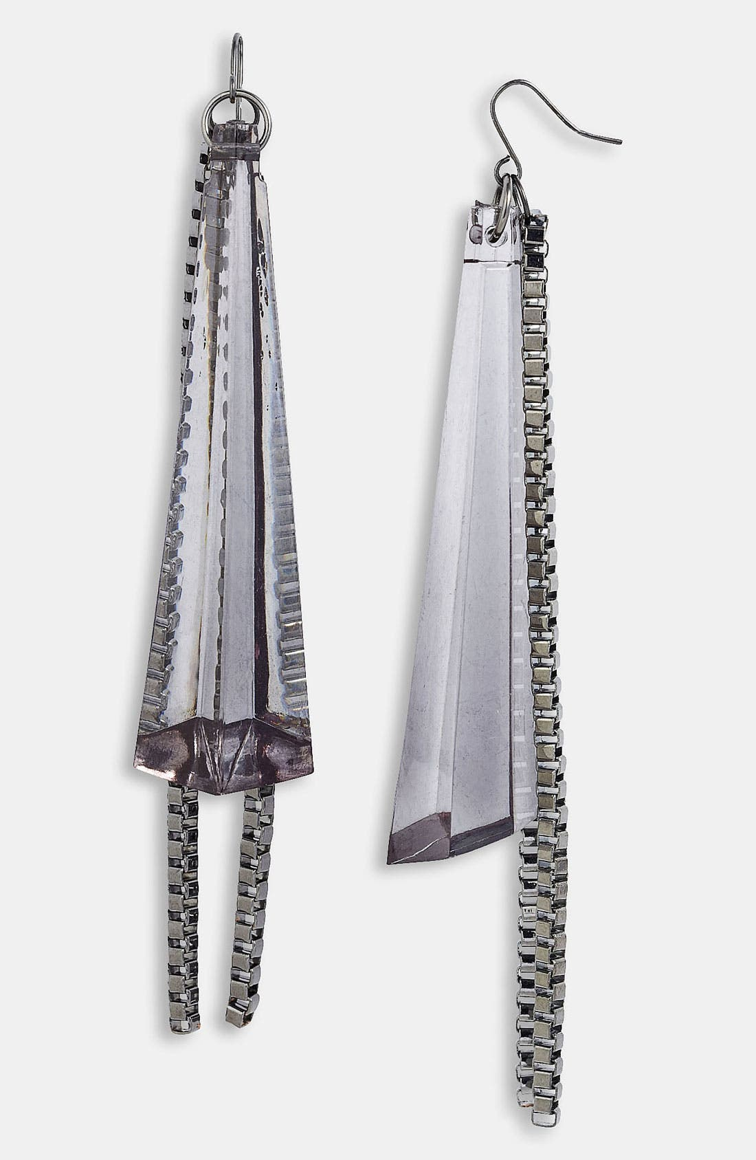 Alternate Image 1 Selected - Adia Kibur Lucite® Chain Fan Earrings