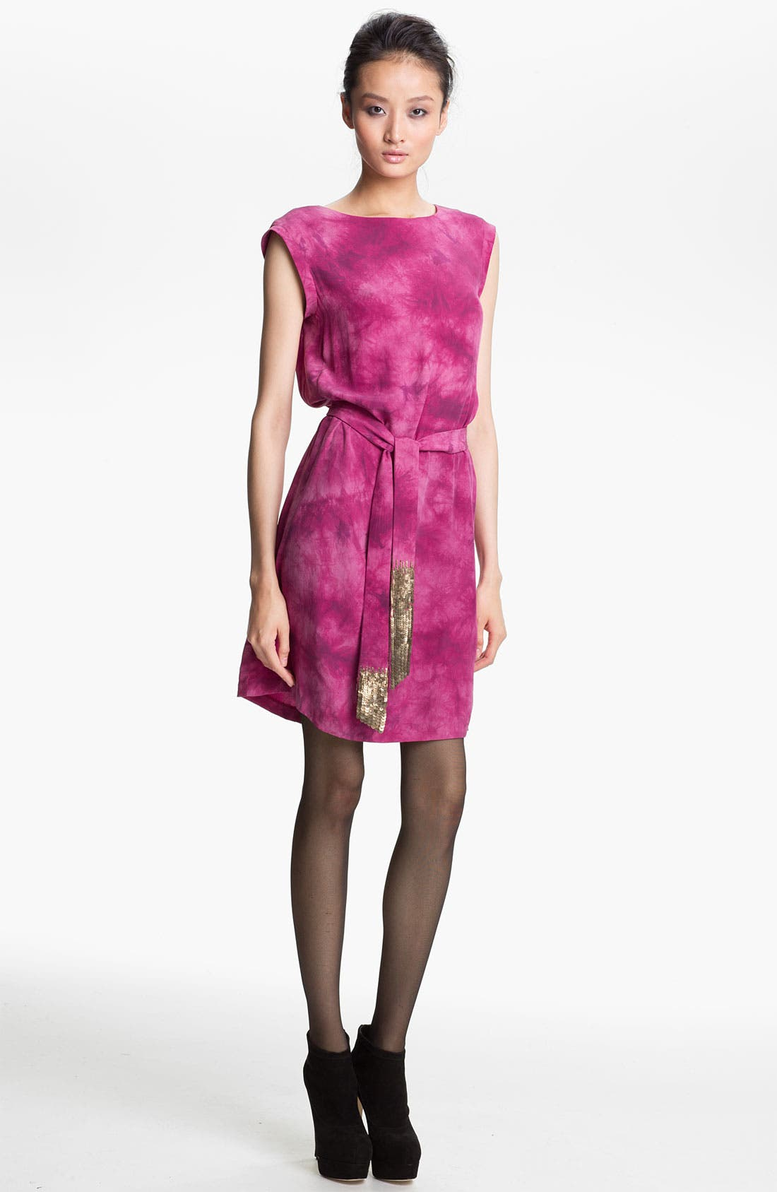 Main Image - Gryphon Belted Silk Dress