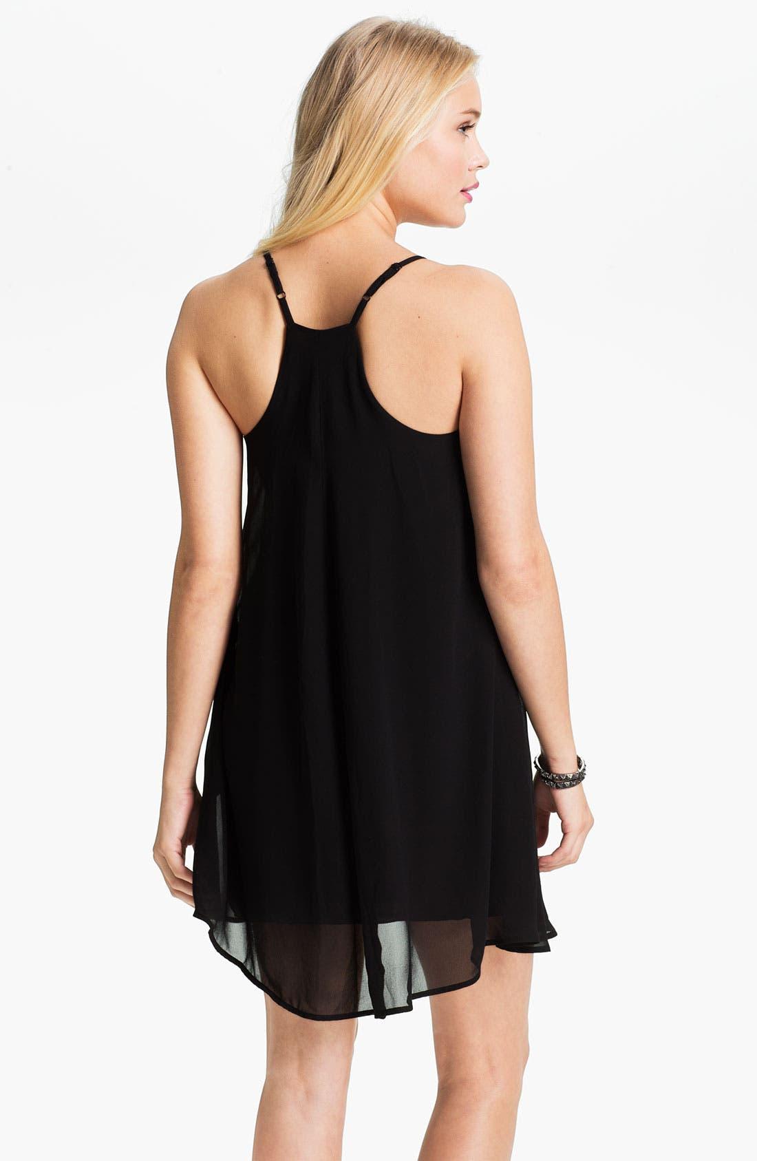 Alternate Image 2  - dee elle Chiffon Trapeze Dress (Juniors)
