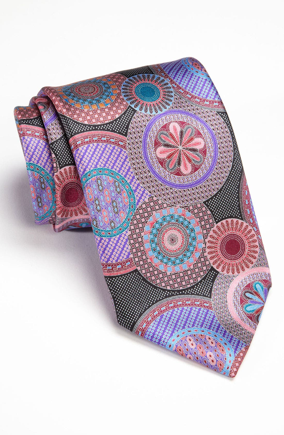 Main Image - Ermenegildo Zegna 'Quindici' Print Silk Tie